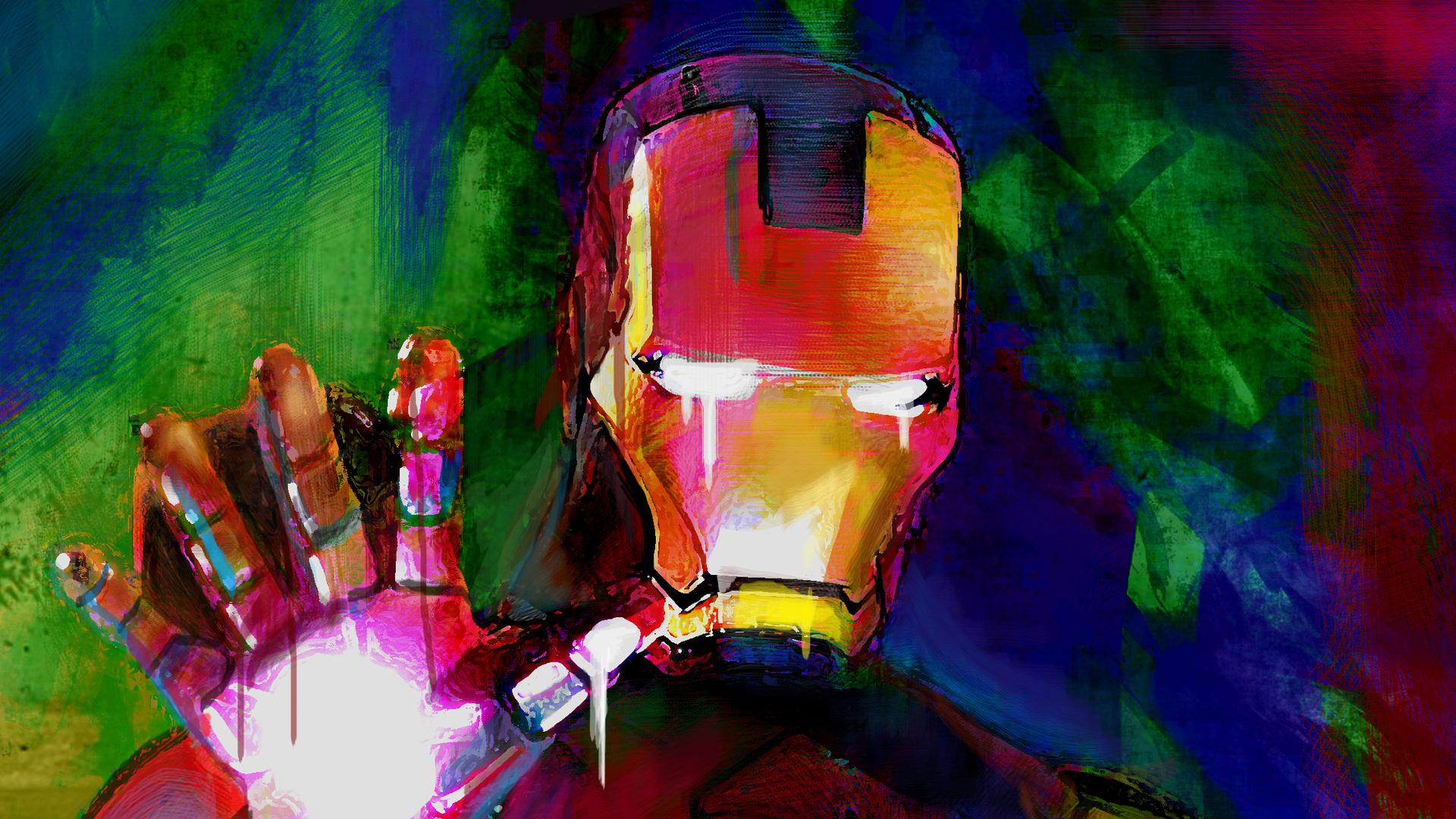 Iron Man Paint Color Art Laptop Full HD 1080P HD