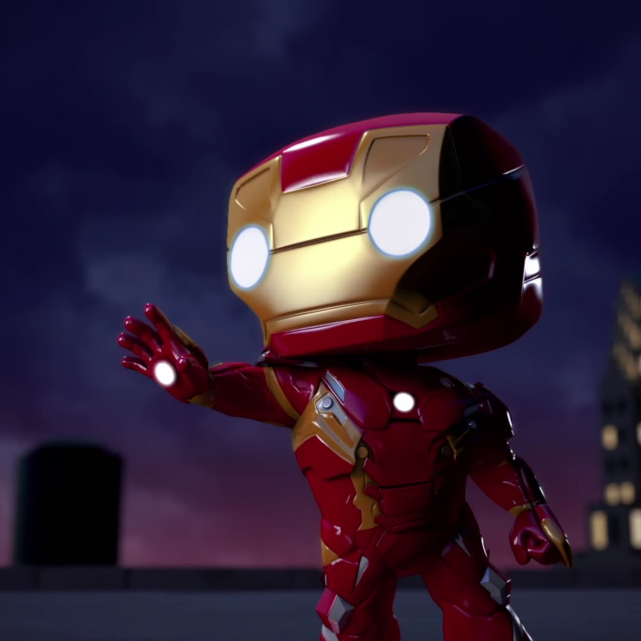 2048x2048 iron man spellbound animated movie ipad air hd - Iron man wallpaper anime ...