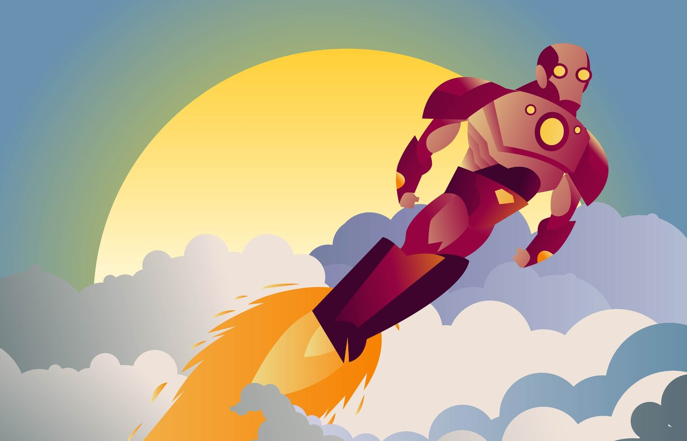 1400x900 Iron Man Sunset Clouds Minimalist 1400x900 Resolution Hd 4k