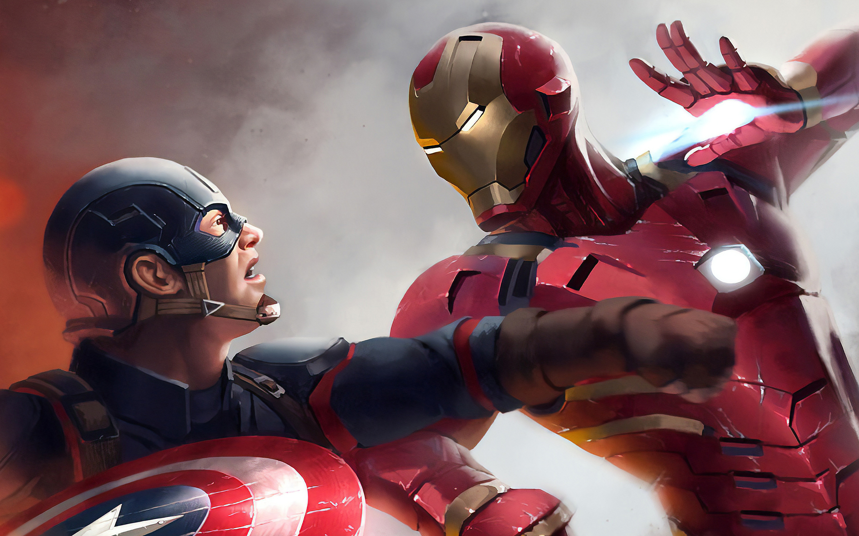 2880x1800 Iron Man Vs Captain America 4k Macbook Pro Retina Hd 4k Wallpapers Images Backgrounds Photos And Pictures