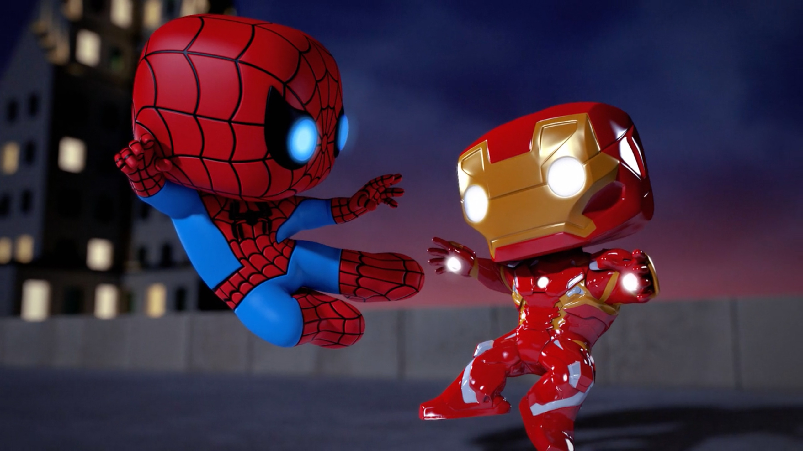 2560x1440 iron man vs spiderman spellbound animated movie - Iron man cartoon download ...