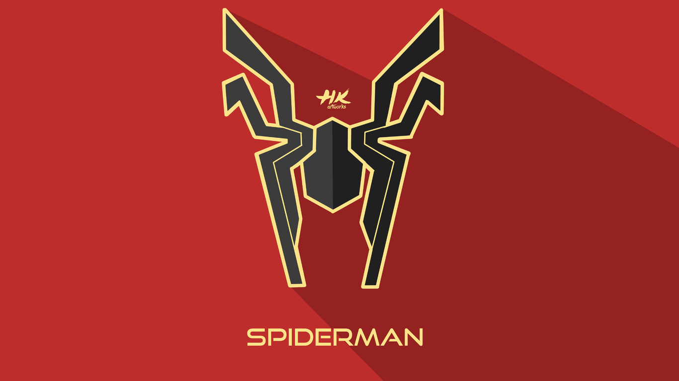 1366x768 iron spider infinity war logo 1366x768 resolution hd 4k