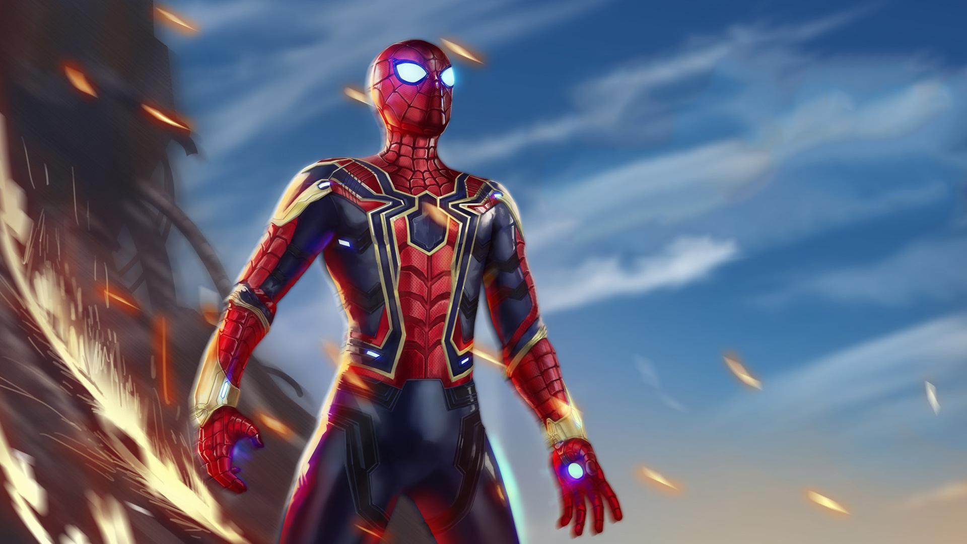 1920x1080 iron spiderman avengers infiniy war laptop full - Iron man spiderman wallpaper ...