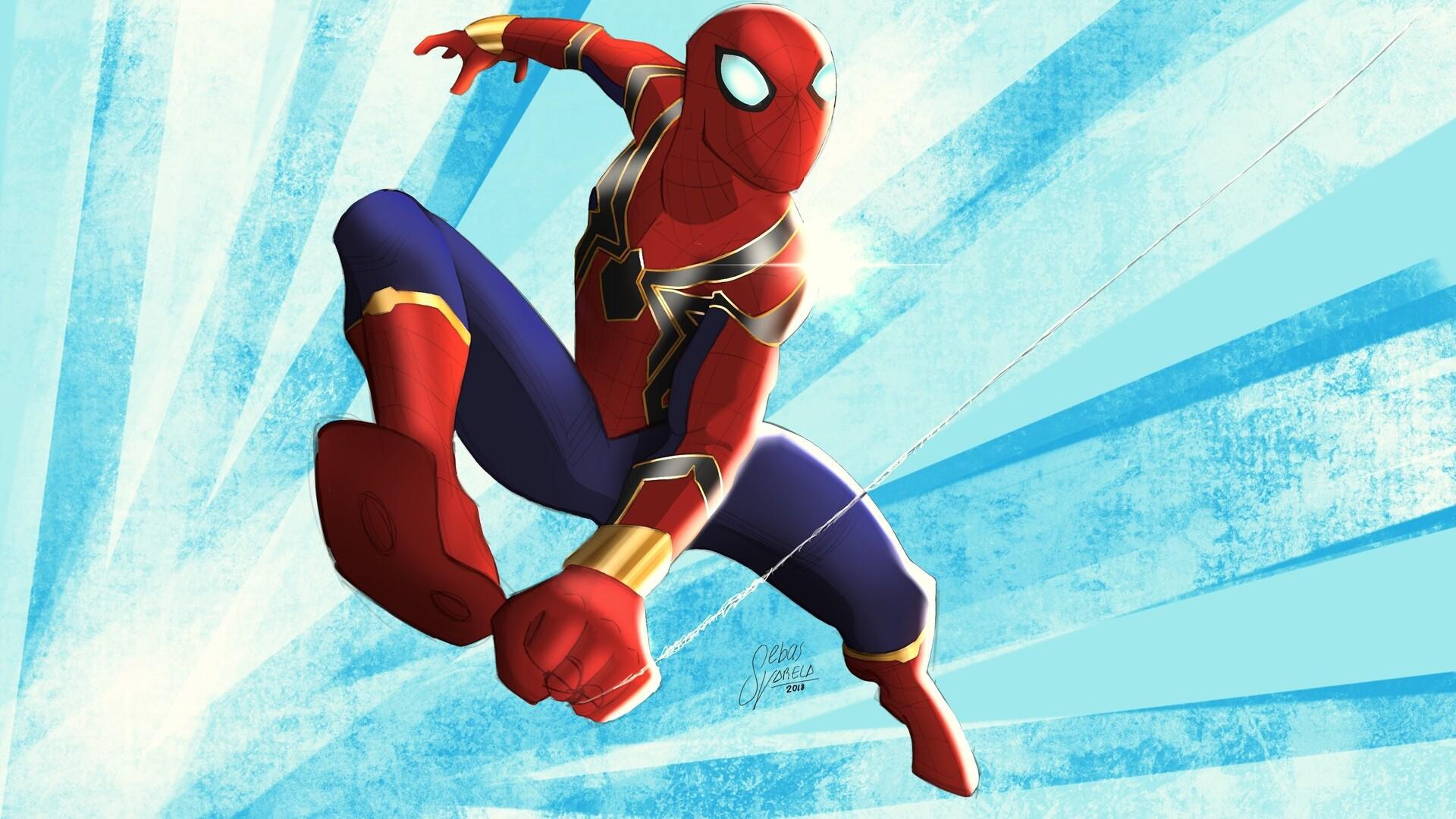 1920x1080 Iron Spiderman Suit Laptop Full Hd 1080p Hd 4k