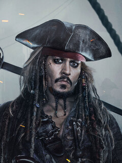 240x320 Jack Sparrow In Pirates Of The Caribbean Dead Men Tell No