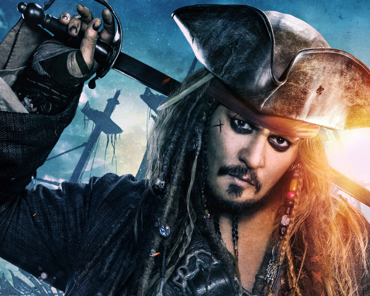 Dead Men Tell No Tales Wallpaper: 1280x1024 Jack Sparrow In Pirates Of The Caribbean Dead