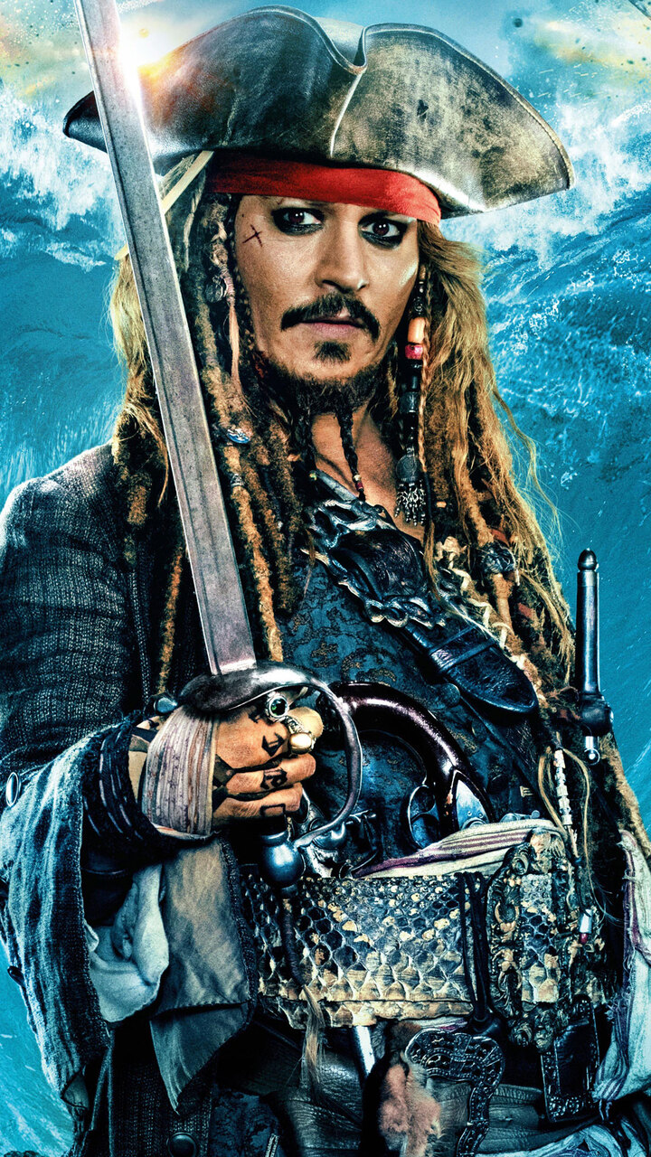720x1280 Jack Sparrow In Pirates Of The Caribbean Dead Men Tell No