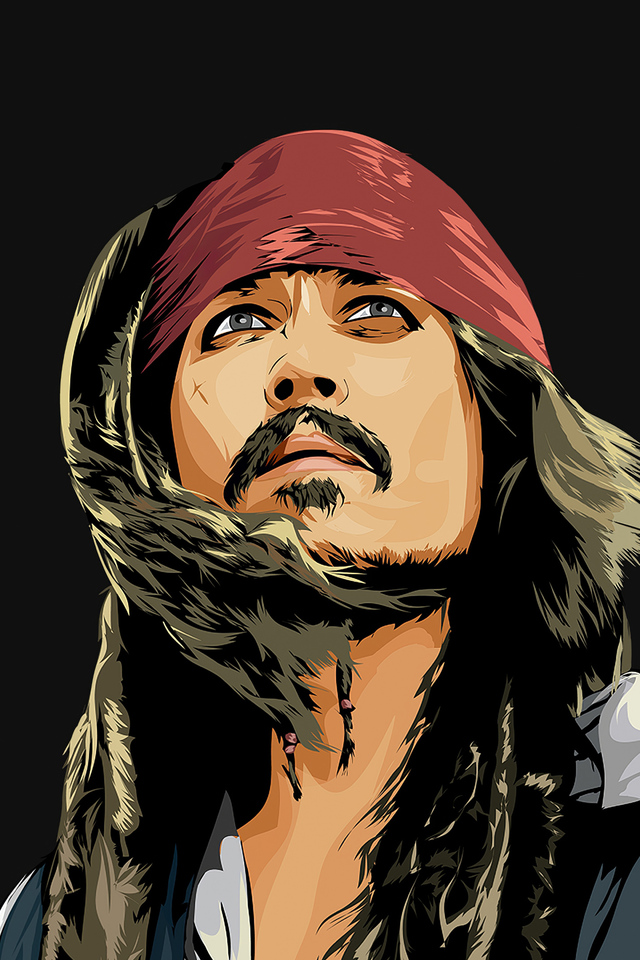 Jack Sparrow Minimal Art 4k iPhone 4
