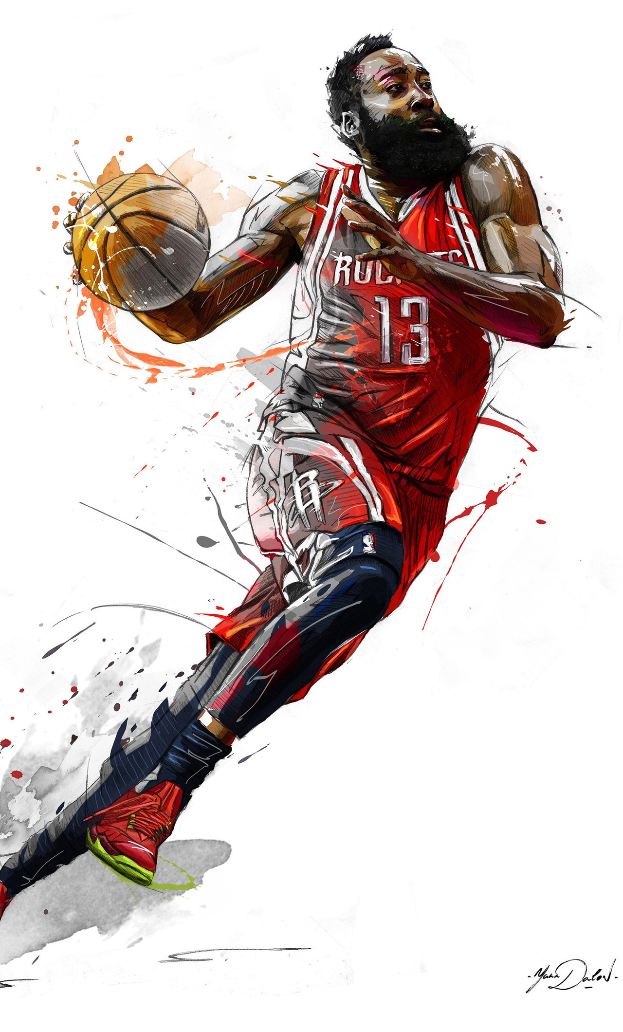 James Harden 5k Art (iPhone 6+)