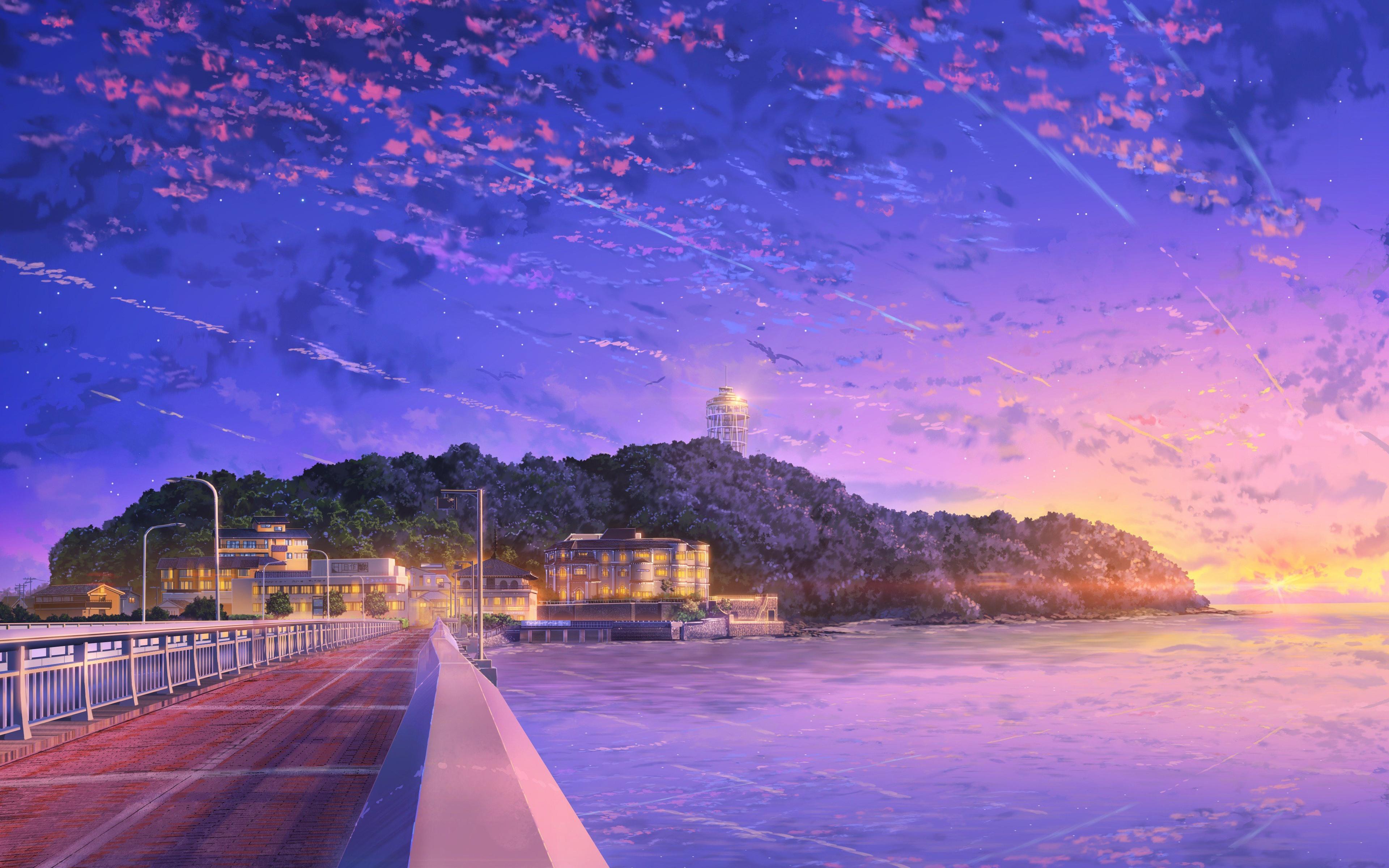 3840x2400 Japan Anime Sky 4k 4k HD 4k Wallpapers, Images ...