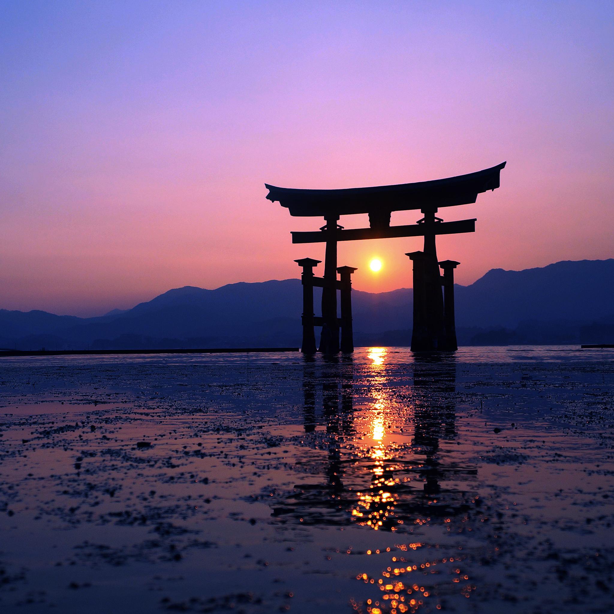 2048x2048 Japan Sunset Purple Evening 4k Ipad Air HD 4k