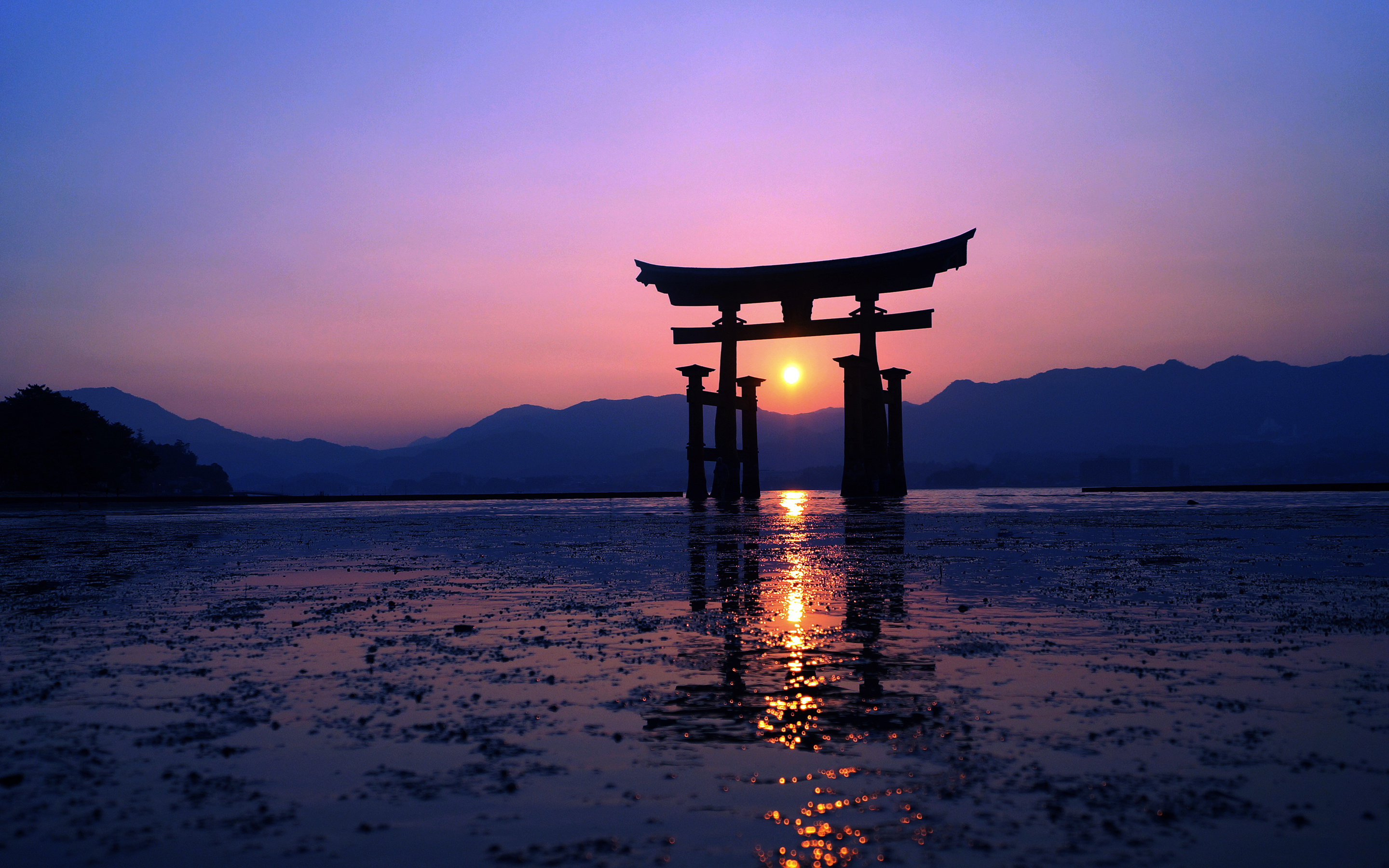 2880x1800 Japan Sunset Purple Evening 4k Macbook Pro Retina Hd 4k Wallpapers Images Backgrounds Photos And Pictures