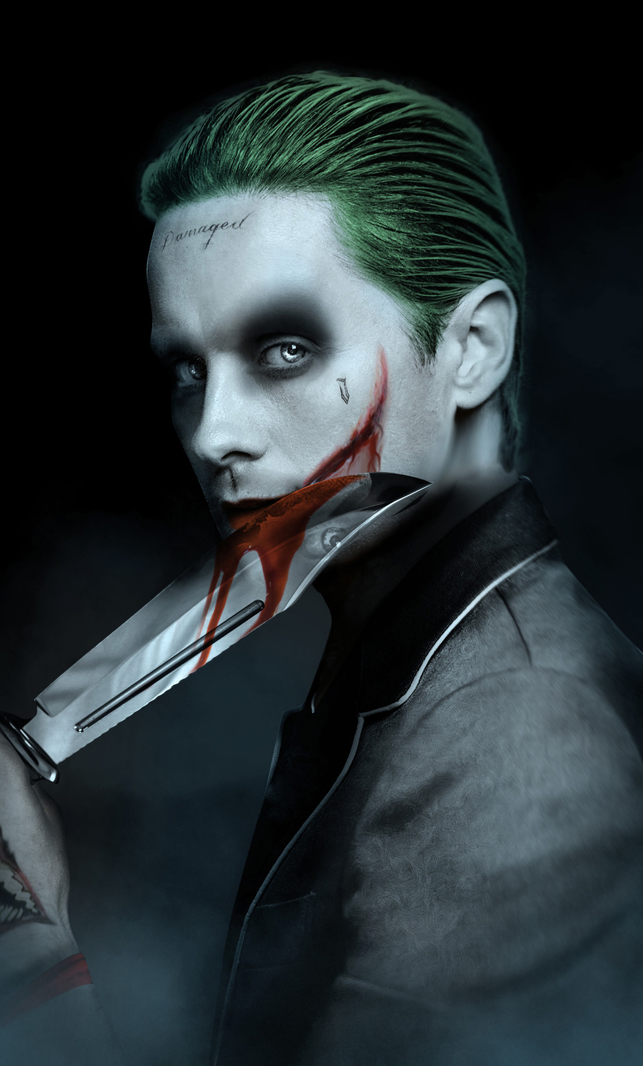 1280x2120 jared leto joker artwork iphone 6 hd 4k. Black Bedroom Furniture Sets. Home Design Ideas