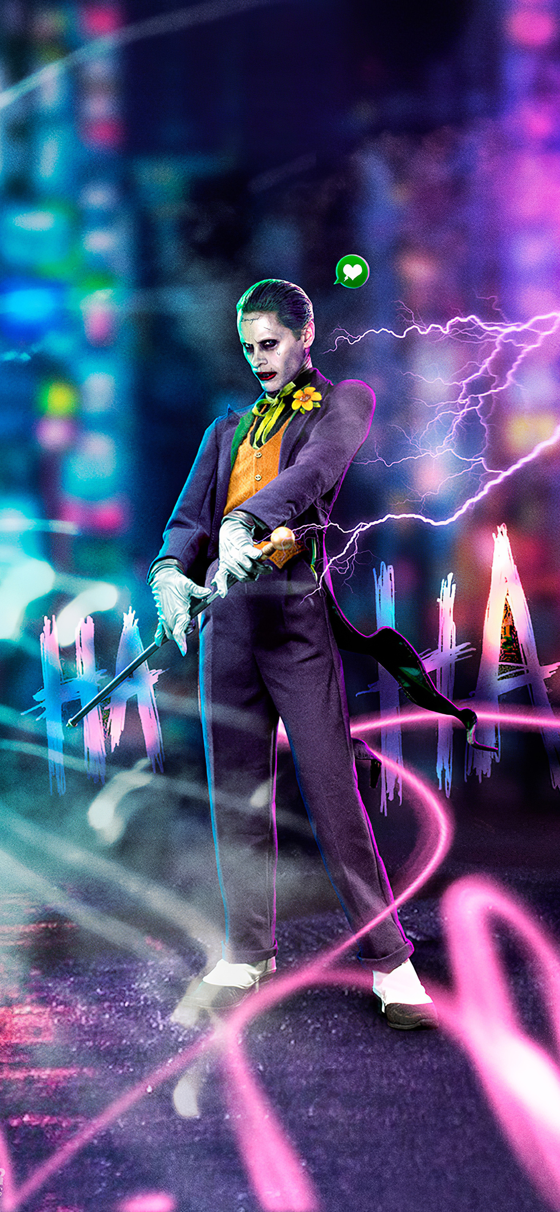 1125x2436 Jared Leto Joker Cyberpunk Art 4k Iphone Xs Iphone 10