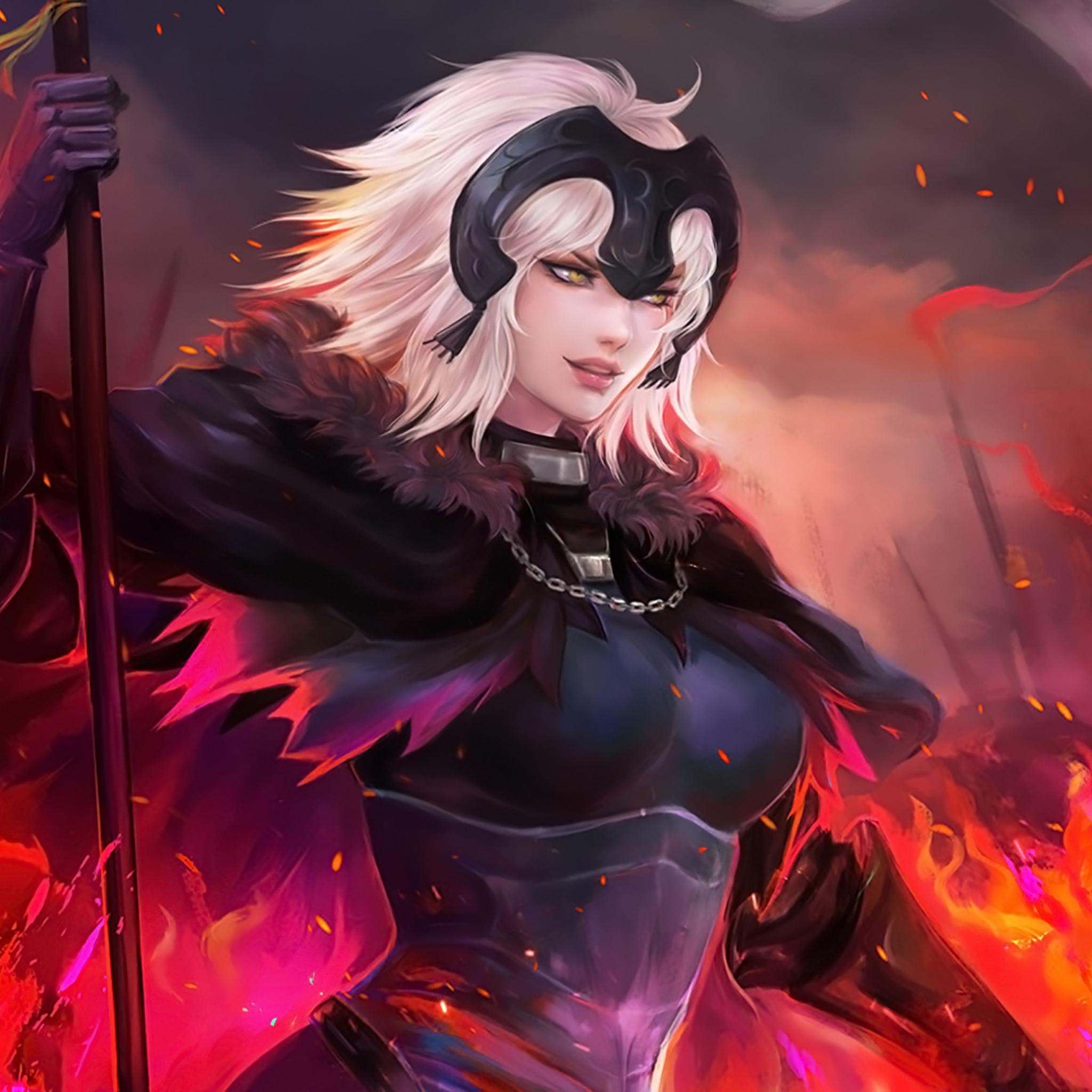 2048x2048 Jeanne Alter Anime Fate Grand Order Ipad Air Hd 4k