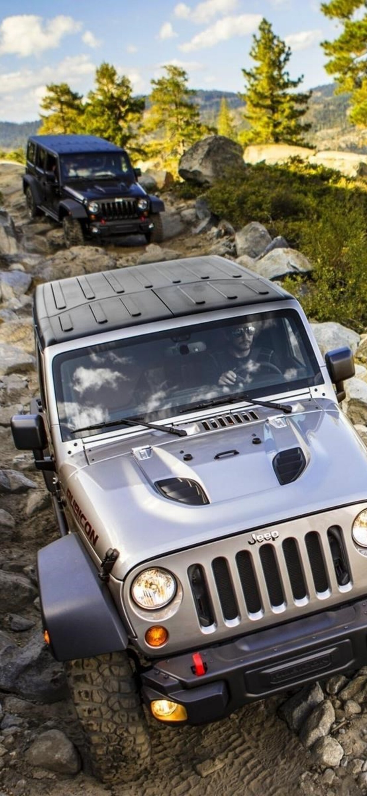 1242x2688 Jeep Wrangler Offroading Iphone Xs Max Hd 4k