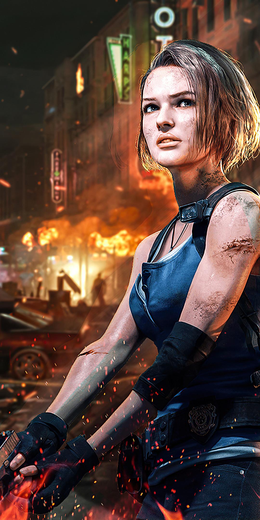 1080x2160 Jill Valentine Resident Evil 3 4k 2020 One Plus ...