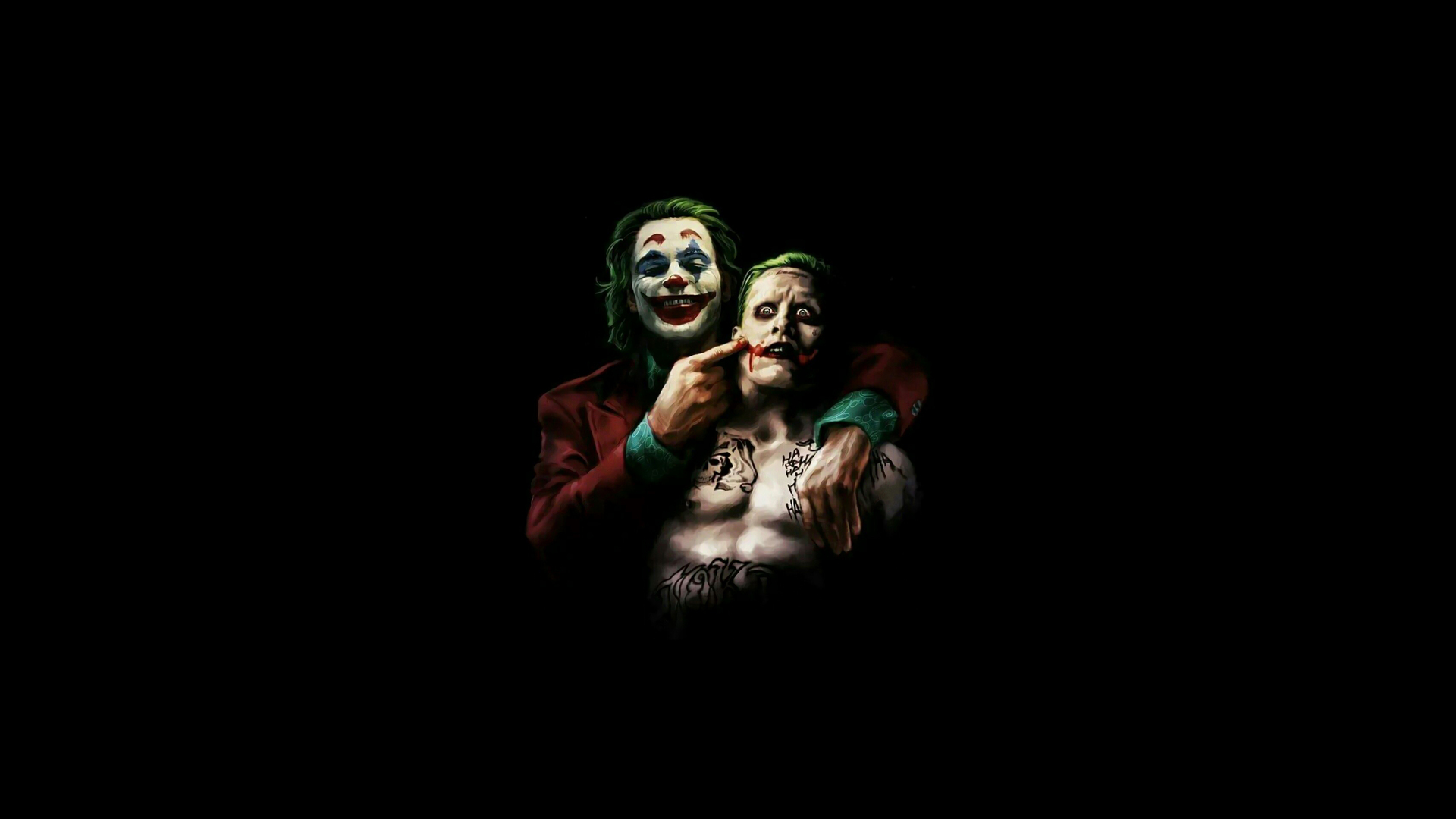 1920x1080 Joaquin Phoenix And Jared Leto As Joker 4k Laptop