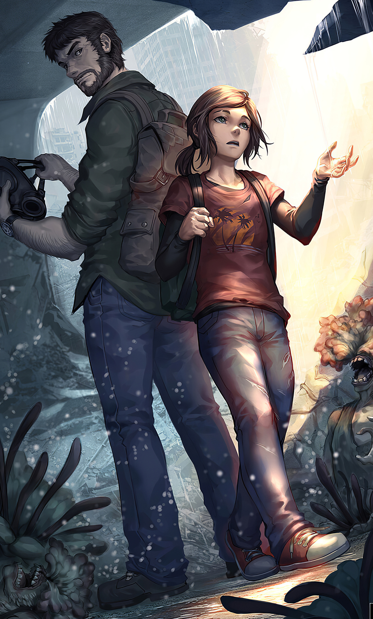 1280x2120 Joel And Ellie The Last Of Us Iphone 6 Hd 4k Wallpapers