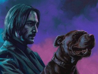 john wick with dog h9