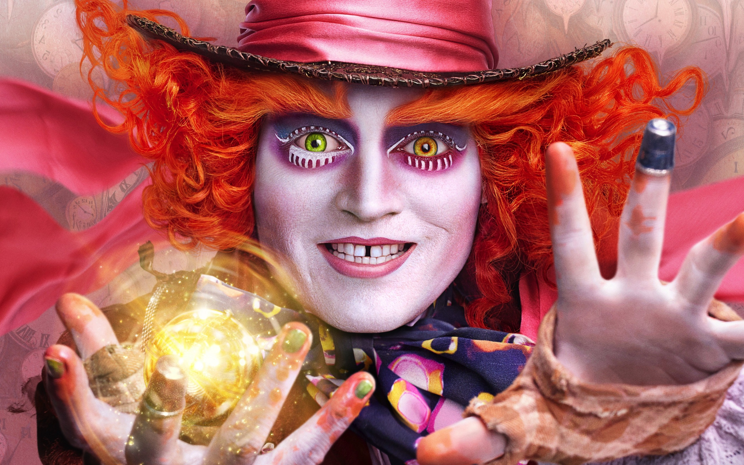 2560x1600 Johnny Depp Alice Through The Looking Glass