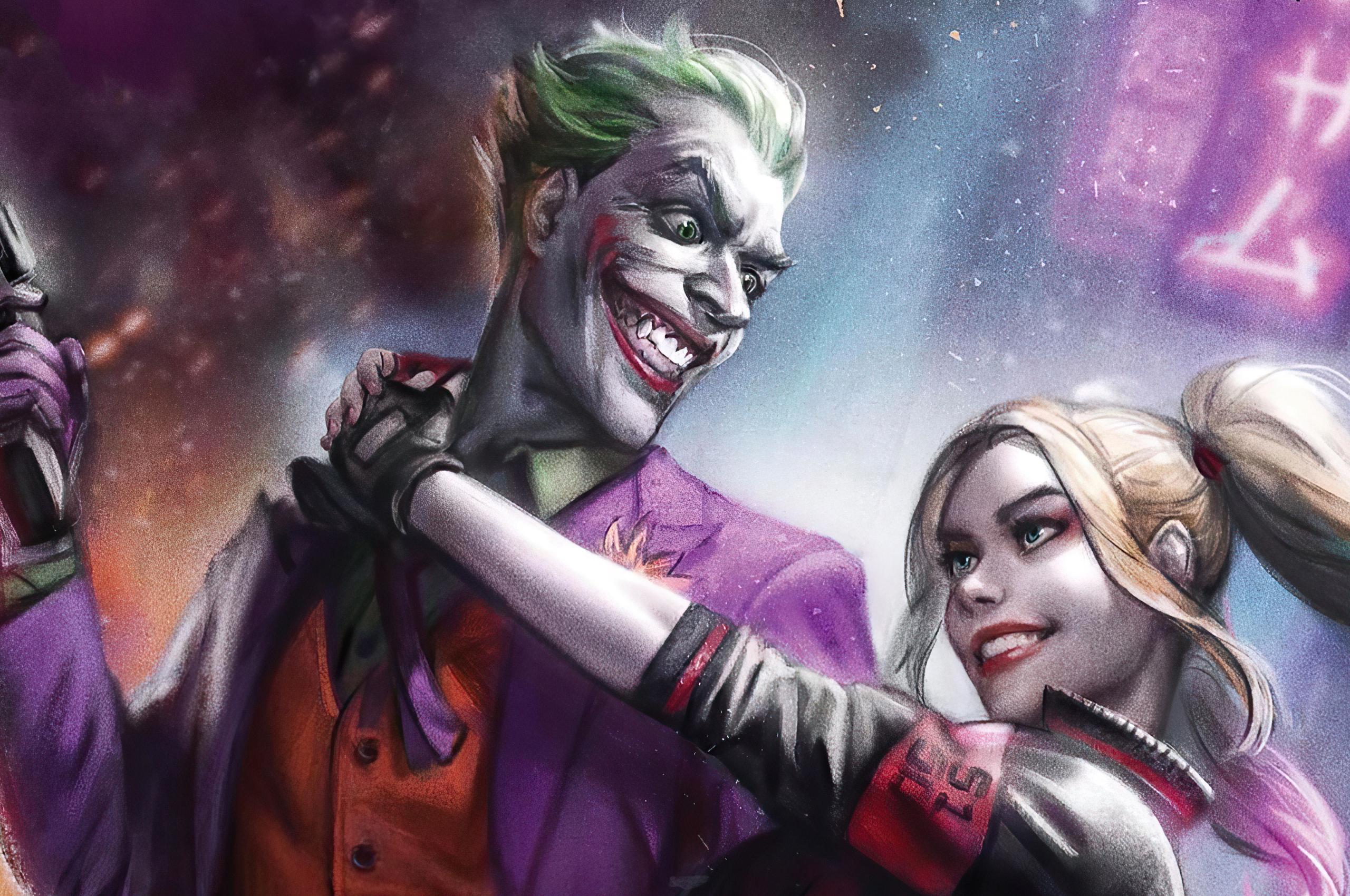 2560x1700 Joker And Harley Quinn 4k 2020 Chromebook Pixel ...
