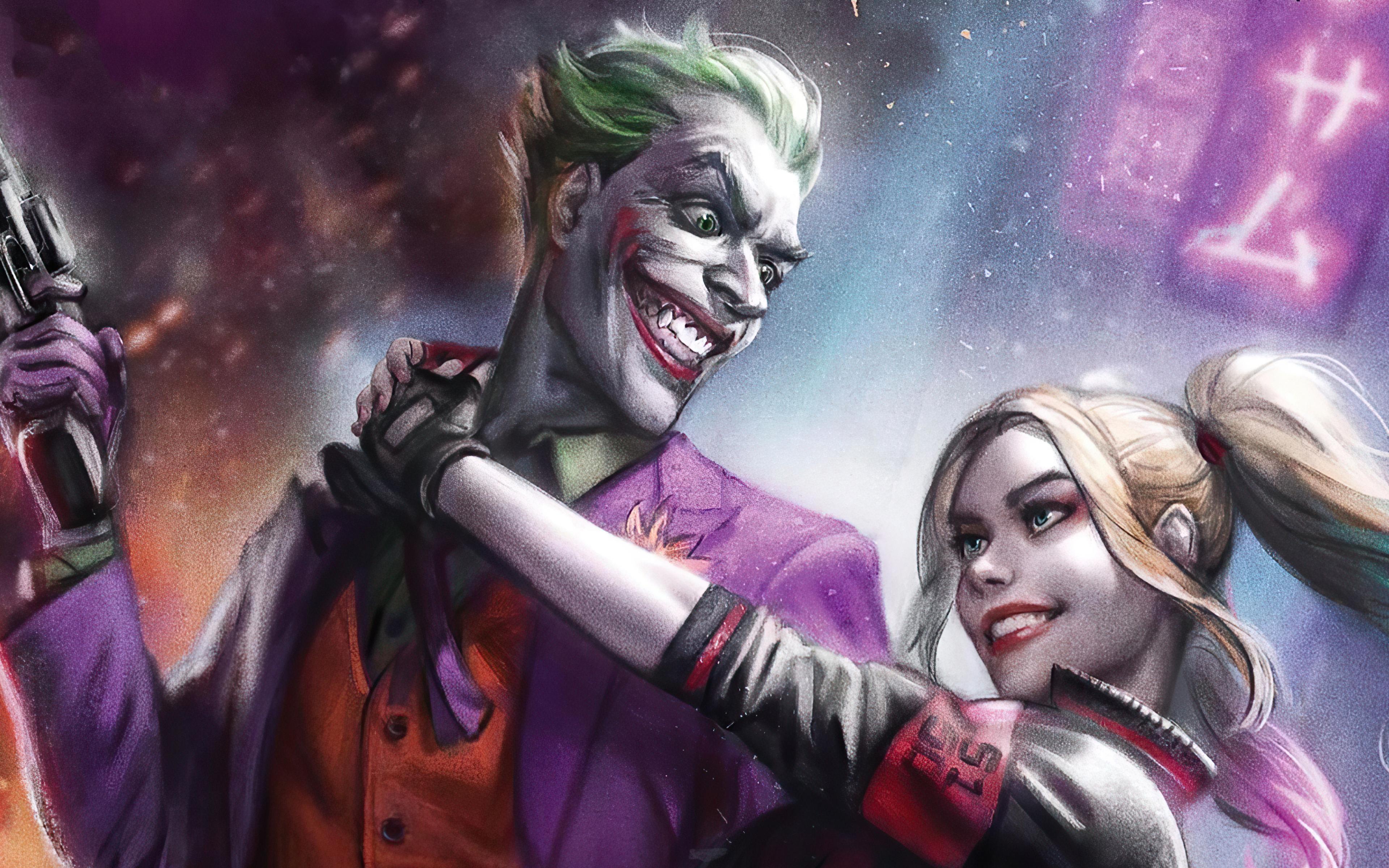 3840x2400 Joker And Harley Quinn 4k 2020 4k HD 4k ...