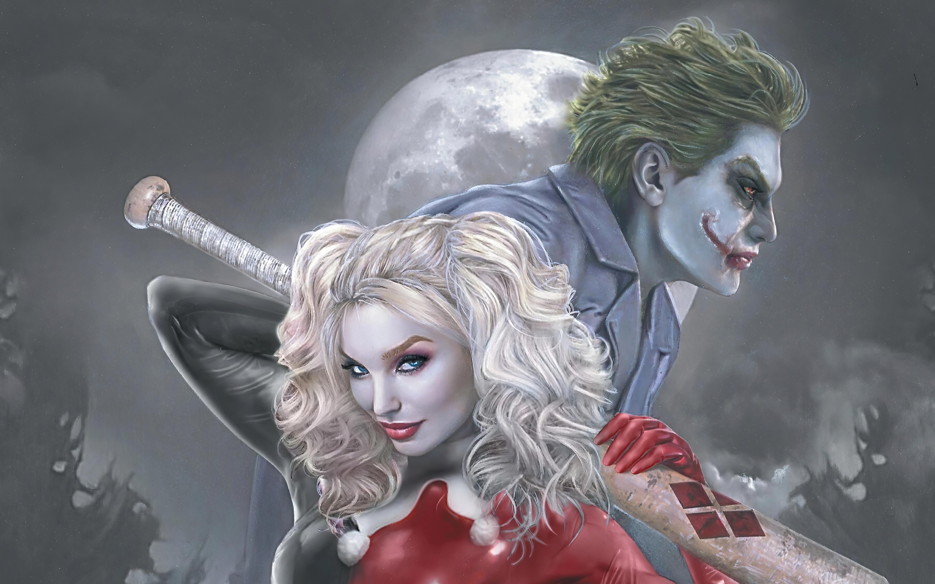 3840x2400 Joker And Harley Quinn 4k New 4k HD 4k ...