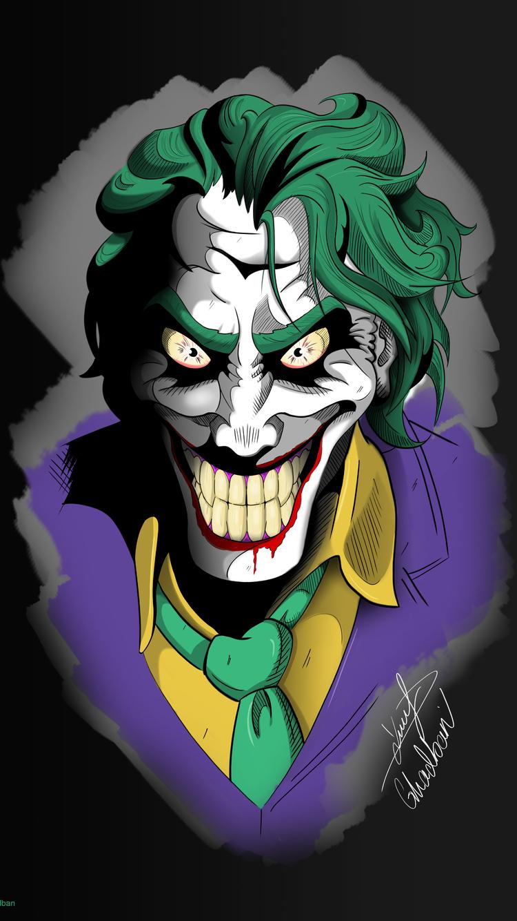 750x1334 Joker Art 4k 2019 Iphone 6 Iphone 6s Iphone 7 Hd