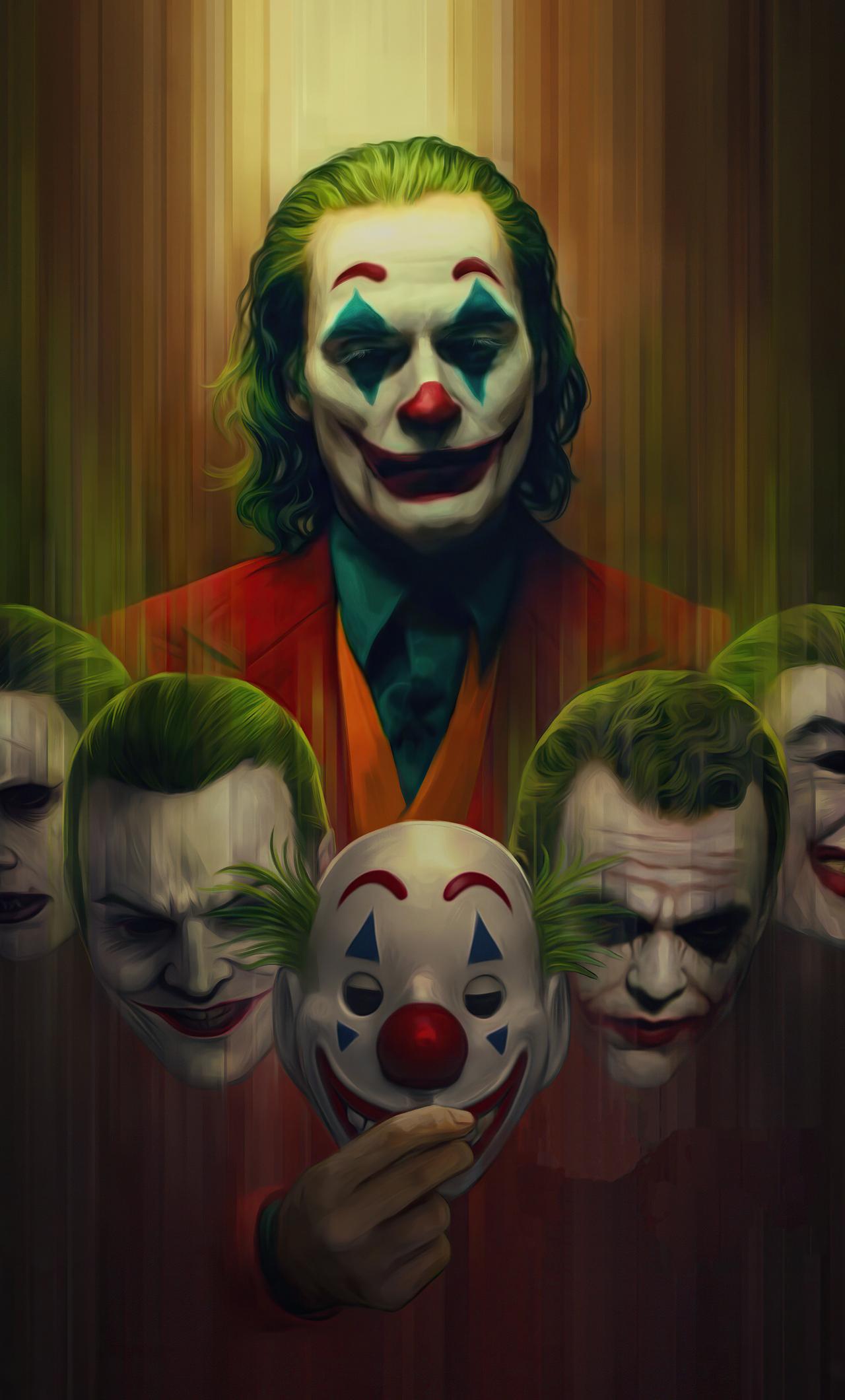 1280x2120 Joker Artwork 4k New iPhone 6+ HD 4k Wallpapers ...