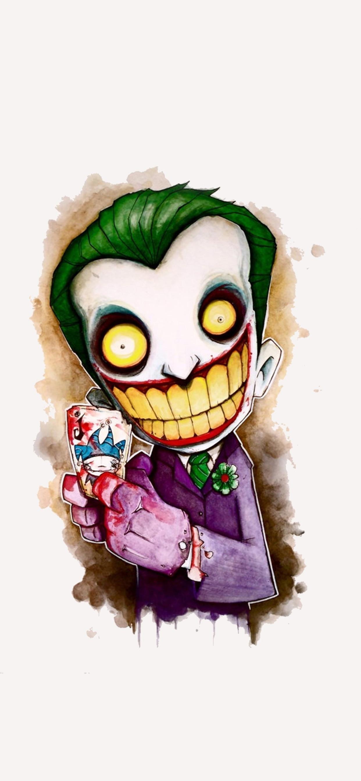 1242x2688 Joker Cartoon 4k Artwork Iphone Xs Max Hd 4k Wallpapers