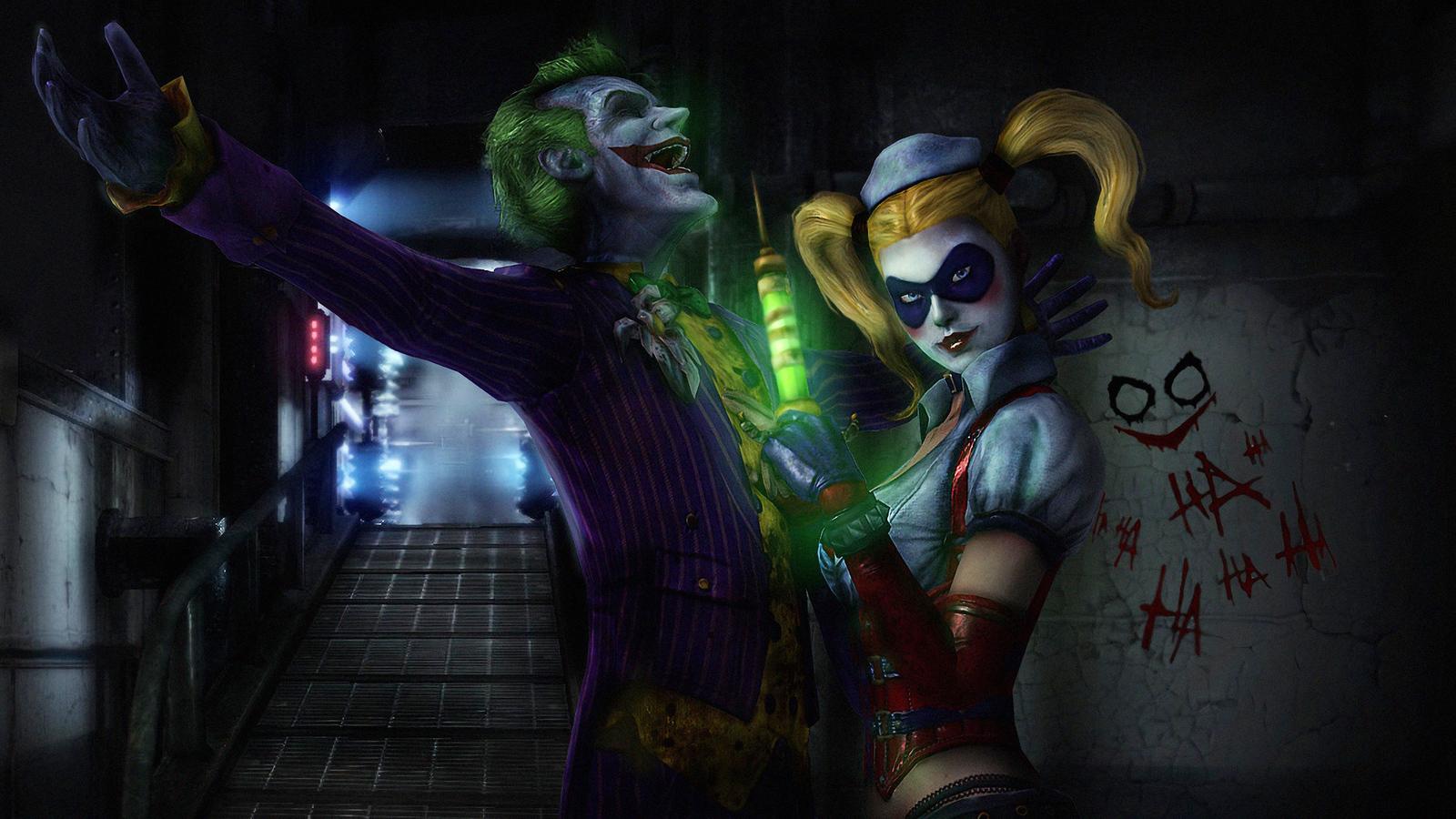 1600x900 Joker Harley Quinn Laughing 1600x900 Resolution Hd