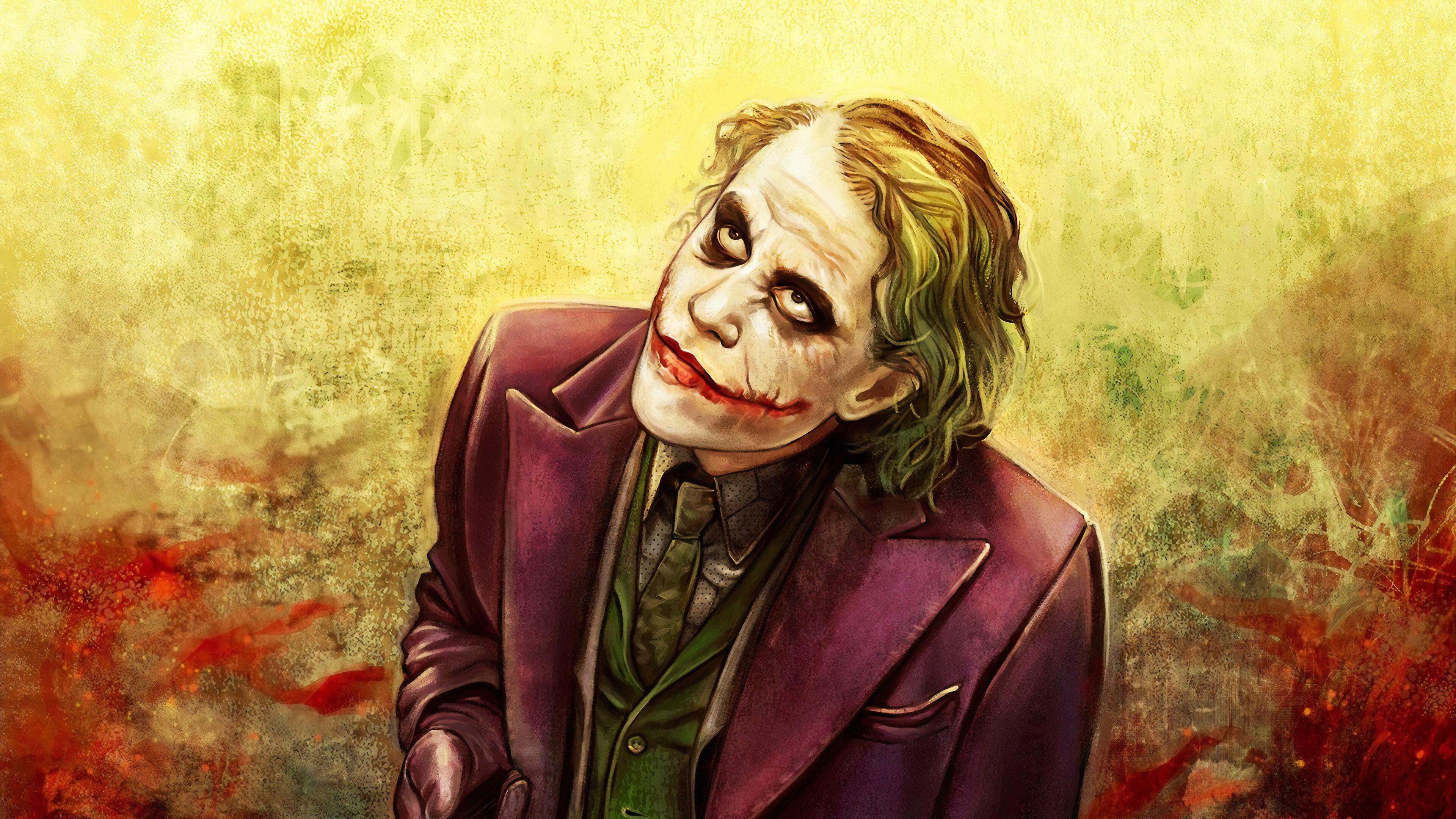 3840x2160 Joker Heath Ledger Art 4k 2019 4k Hd 4k Wallpapers