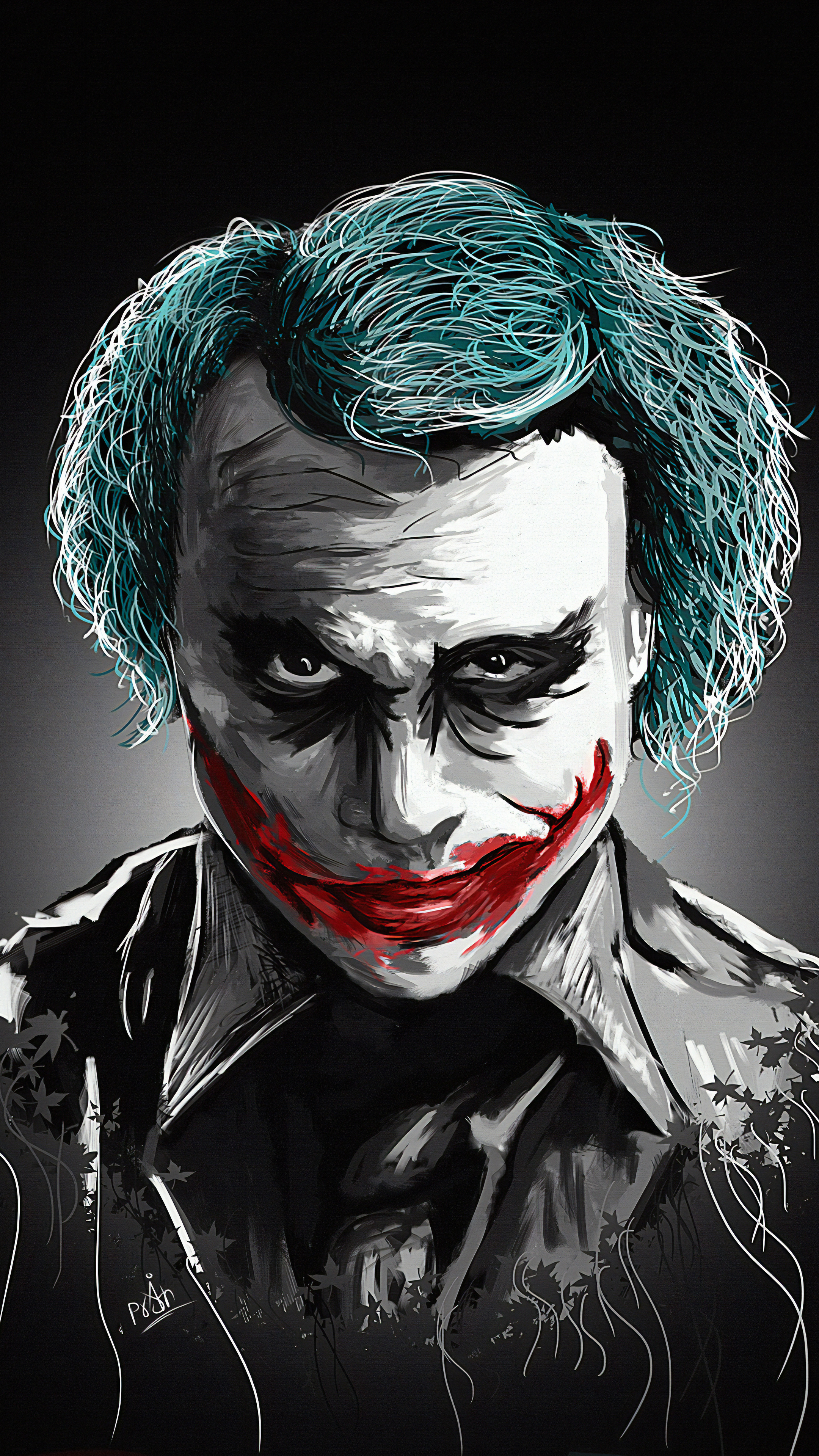 20 Latest Heath Ledger Drawing Easy Sketch Joker Graffiti Lunatic