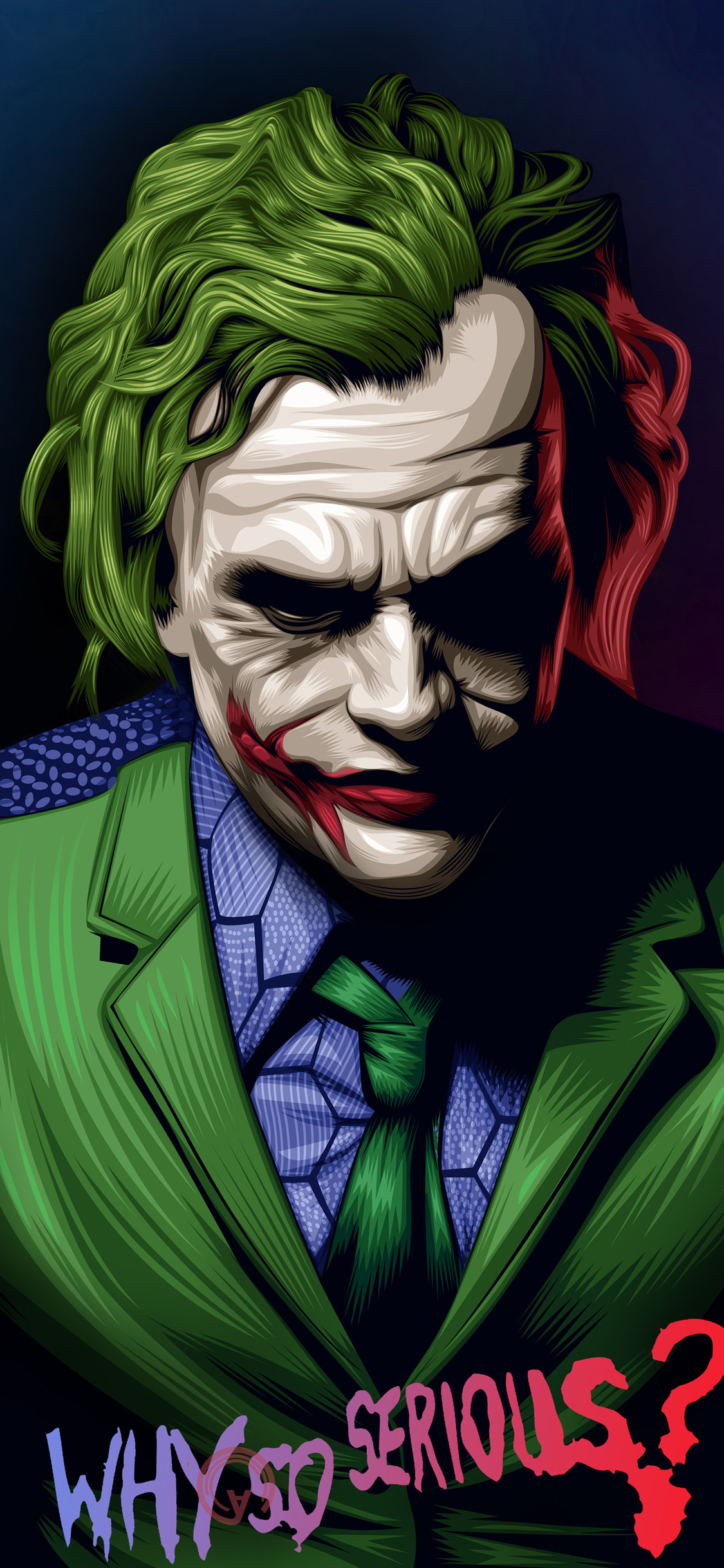 1125x2436 Joker Heath Ledger Illustration Iphone Xs Iphone