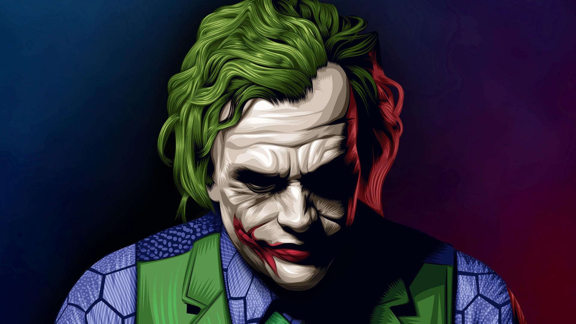 1920x1080 Joker Heath Ledger Illustration Laptop Full Hd