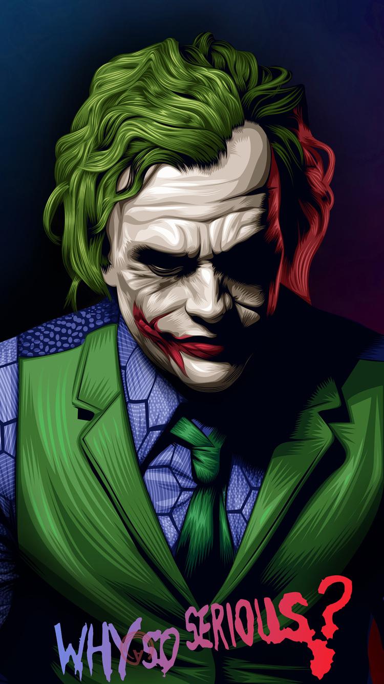 750x1334 Joker Heath Ledger Illustration Iphone 6 Iphone 6s