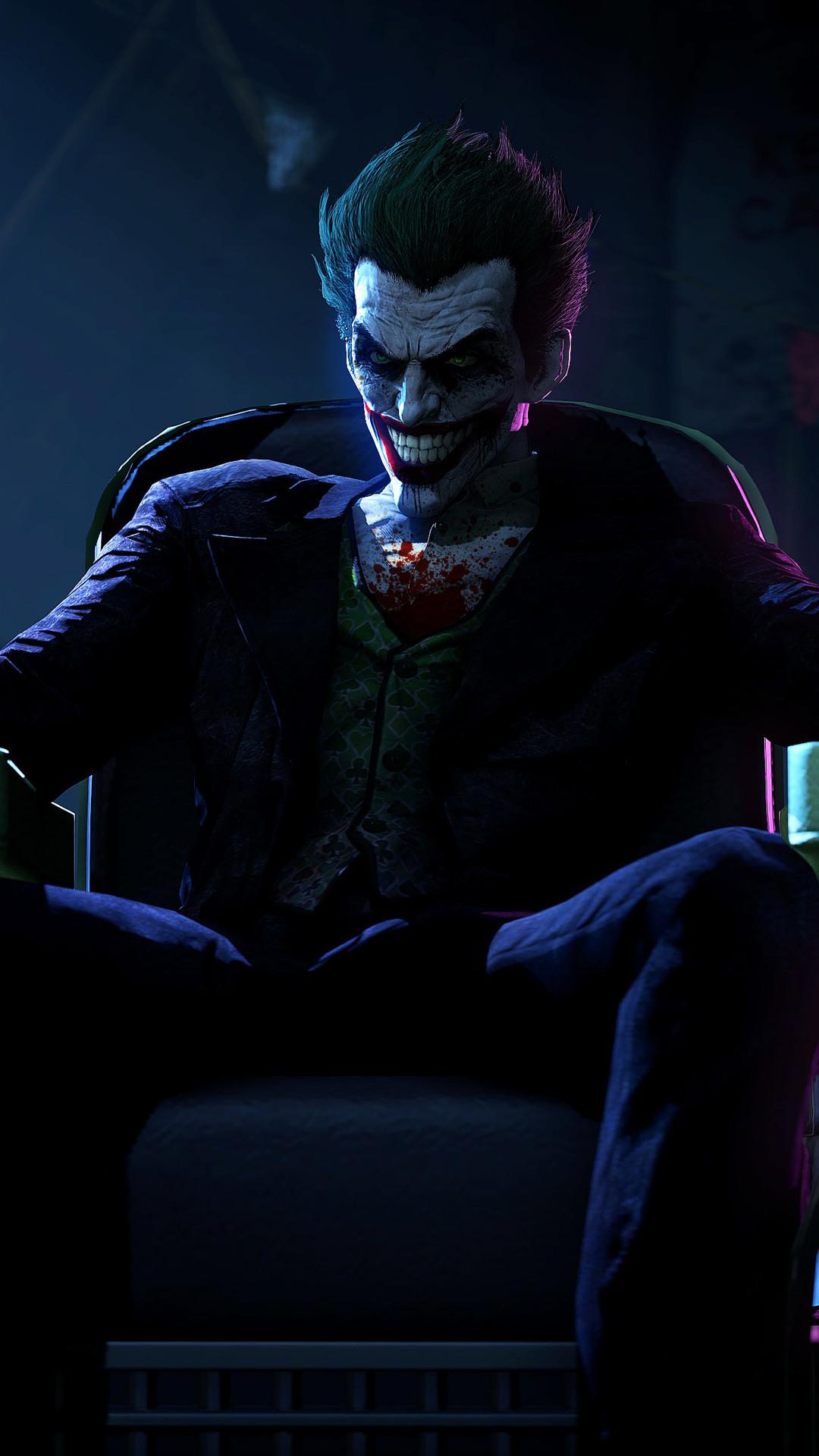 1080x1920 Joker In Batman Arkham Origins Iphone 7,6s,6 ...