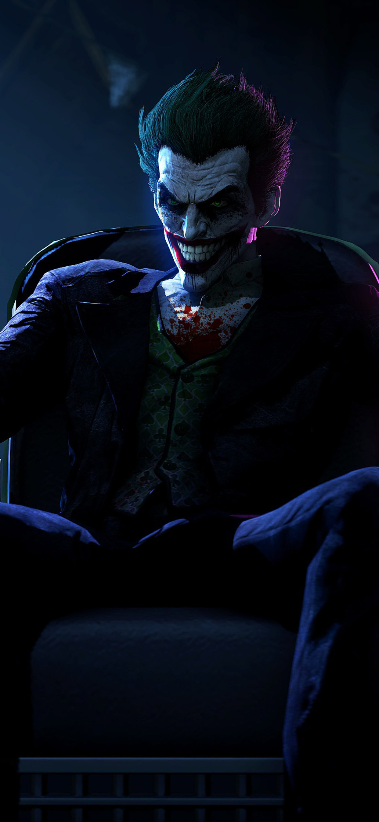 1242x2688 Joker In Batman Arkham Origins Iphone Xs Max Hd 4k