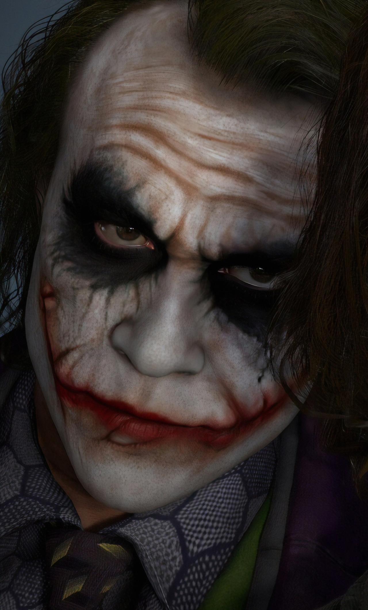 1280x2120 Joker Joaquin Phoenix Heath Ledger Iphone 6 Hd 4k