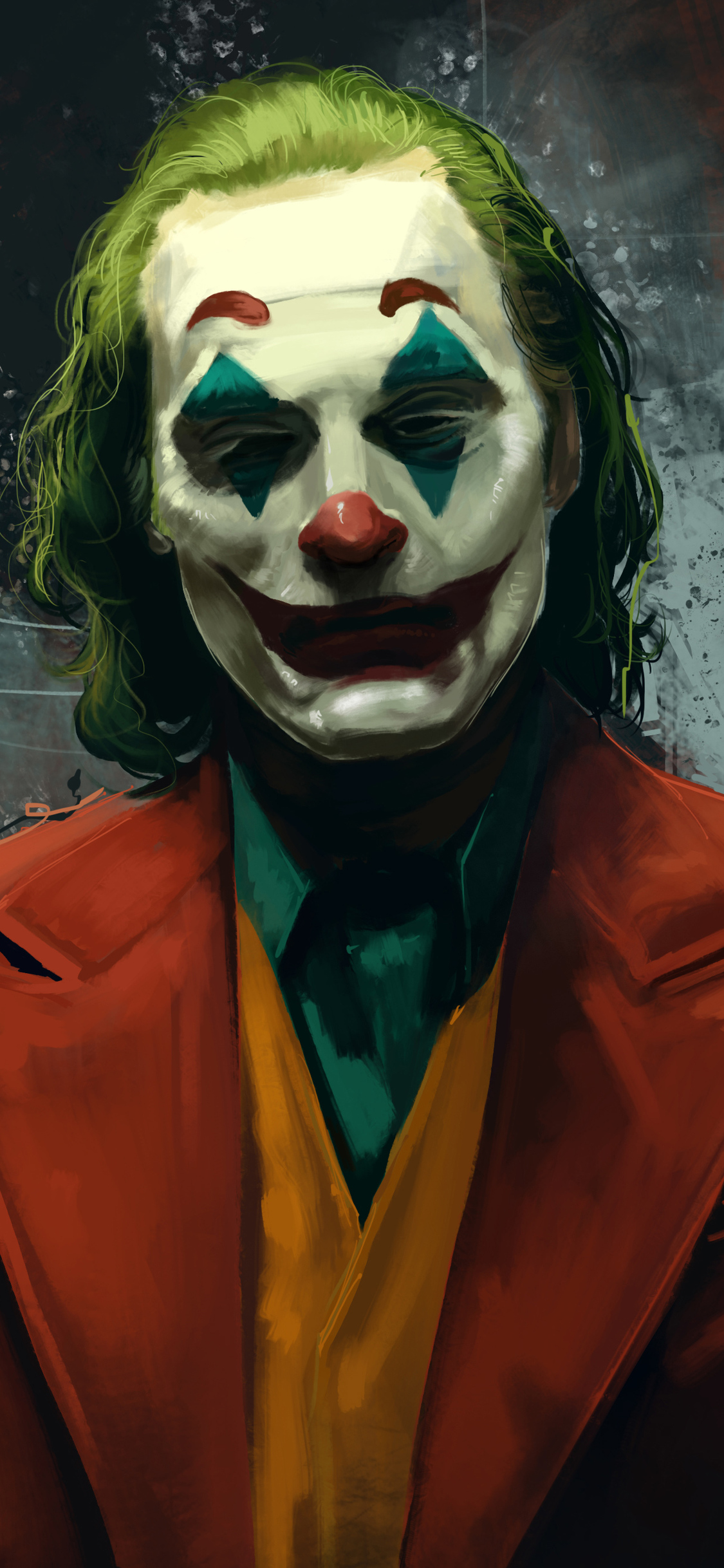 1125x2436 Joker Joaquin Phoenix Movie Artwork Iphone Xs