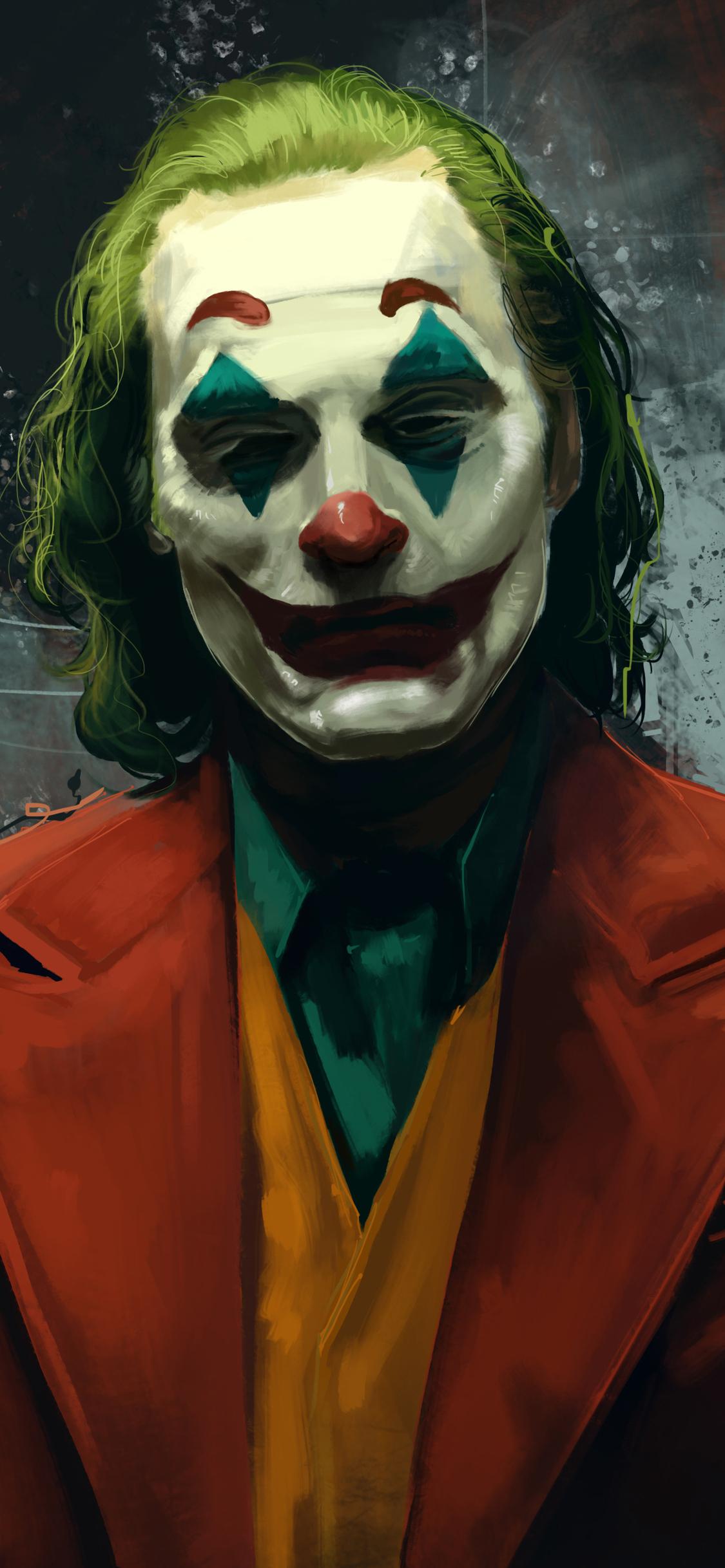 1125x2436 Joker Joaquin Phoenix Movie Artwork Iphone Xs