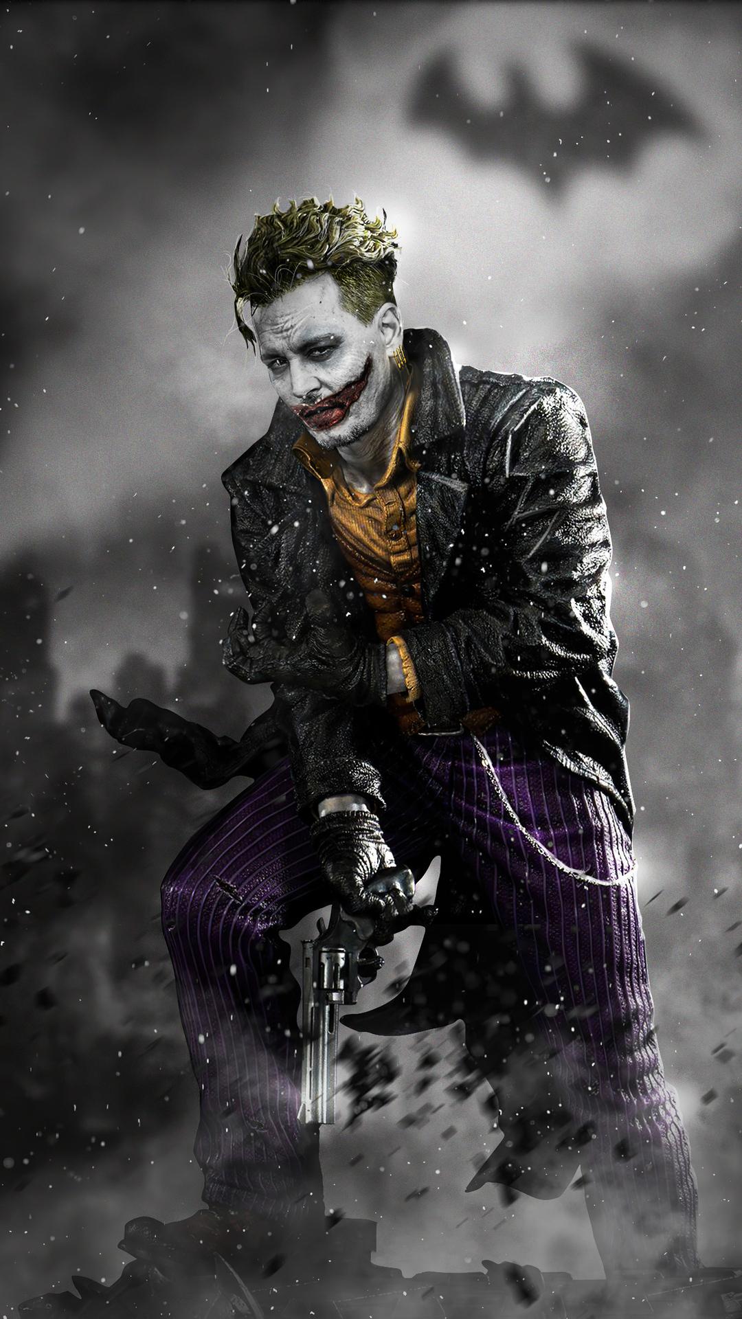 1080x1920 Joker Johnny Depp Iphone 7,6s,6 Plus, Pixel xl ...