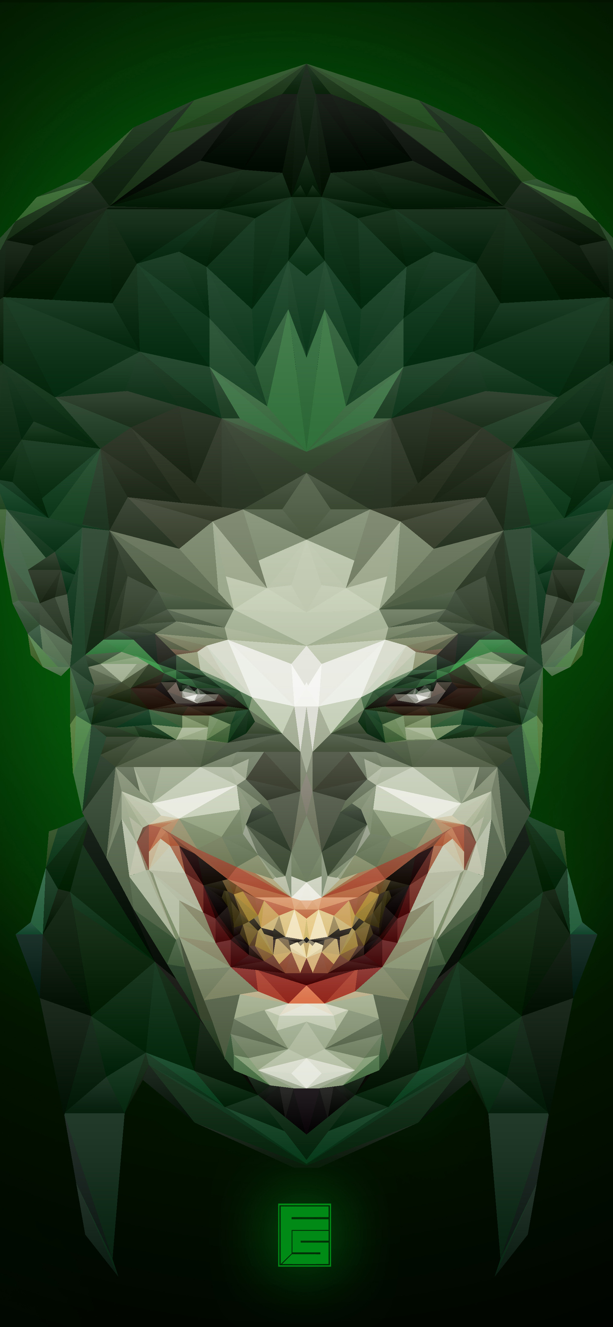1242x2688 Joker Low Poly Art Iphone Xs Max Hd 4k Wallpapers Images