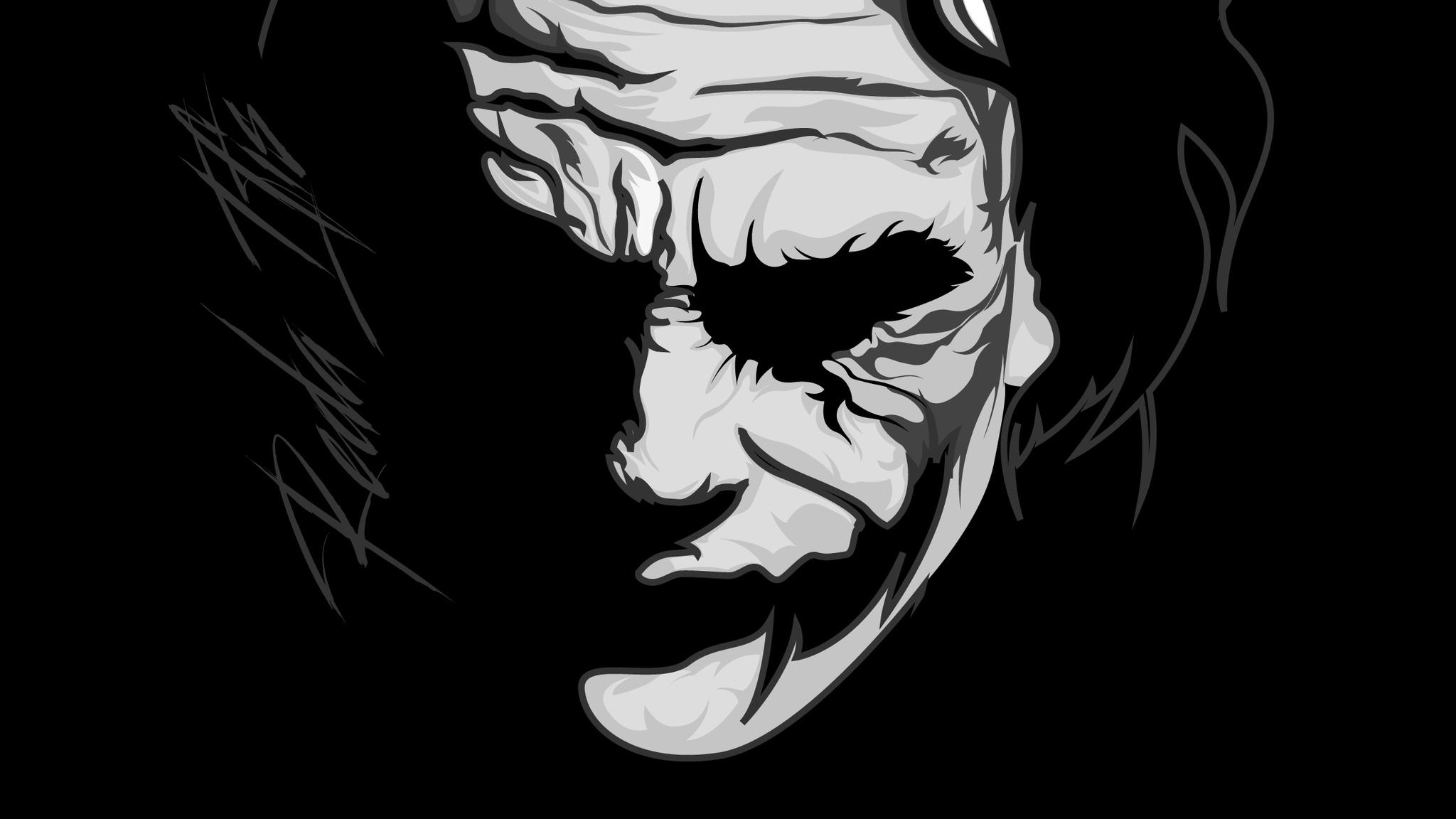2048x1152 Joker Monochrome 2048x1152 Resolution Hd 4k