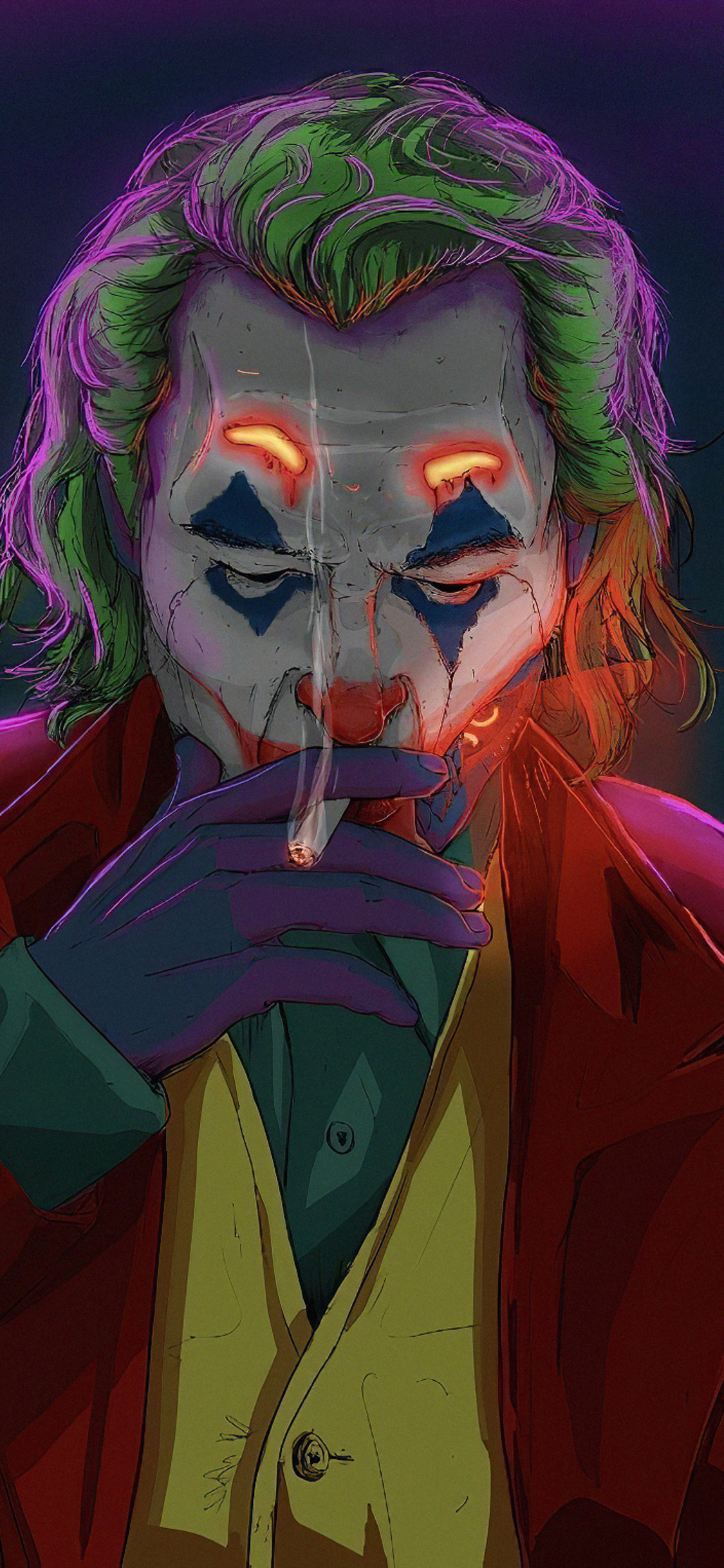1125x2436 Joker Smoking Man Iphone Xs Iphone 10 Iphone X Hd 4k Wallpapers Images Backgrounds Photos And Pictures