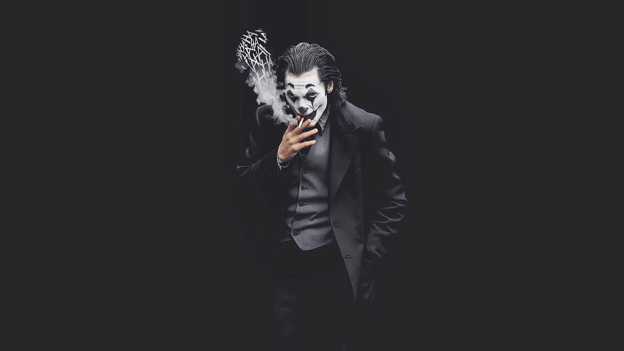 1280x720 Joker Smoking Monochrome 4k 720P HD 4k Wallpapers ...
