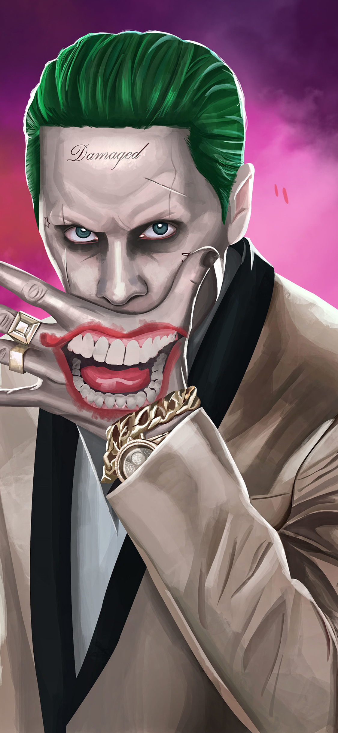 1125x2436 Joker Suicide Squad Artwork Hd Iphone Xs Iphone 10 Iphone