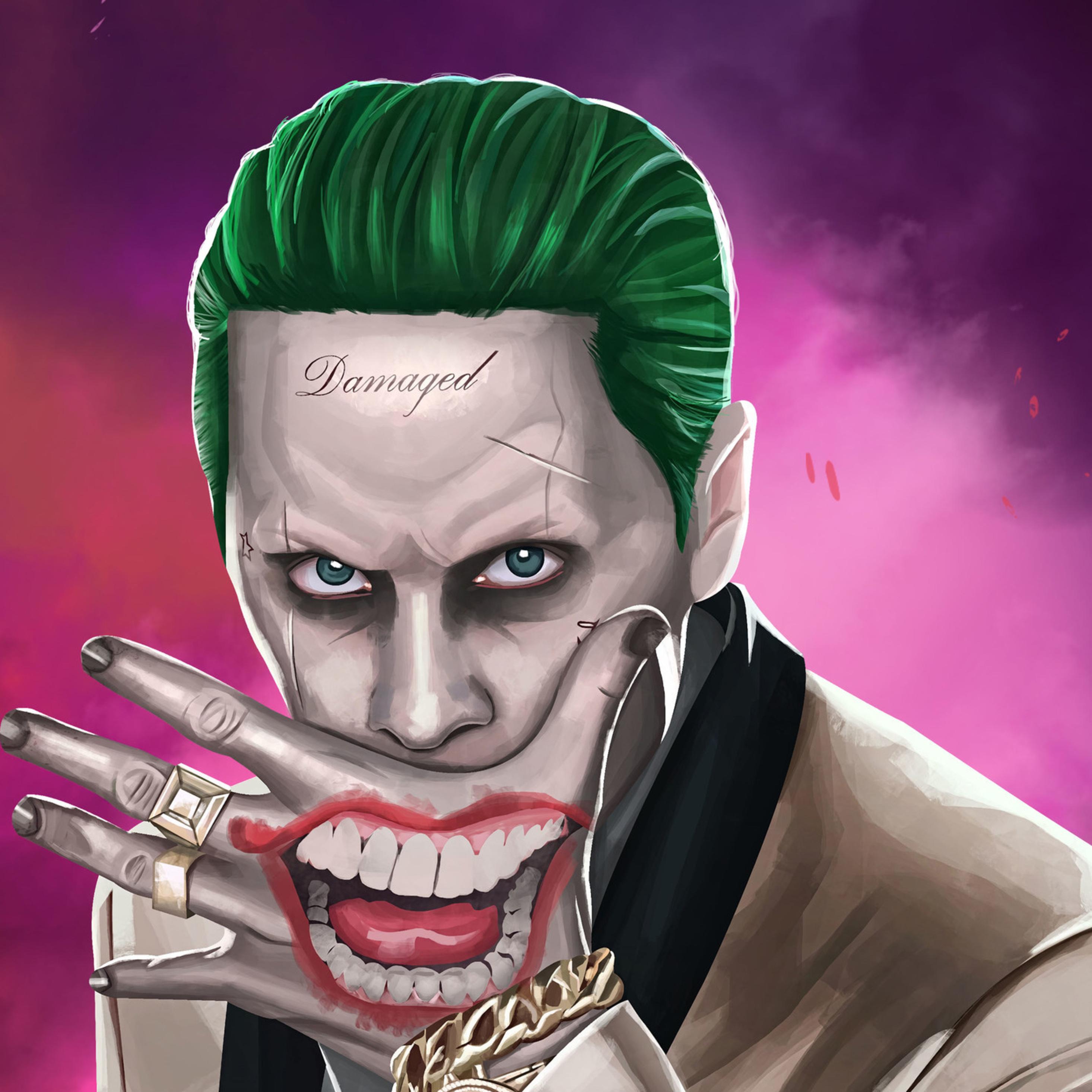 2932x2932 joker suicide squad artwork hd ipad pro retina