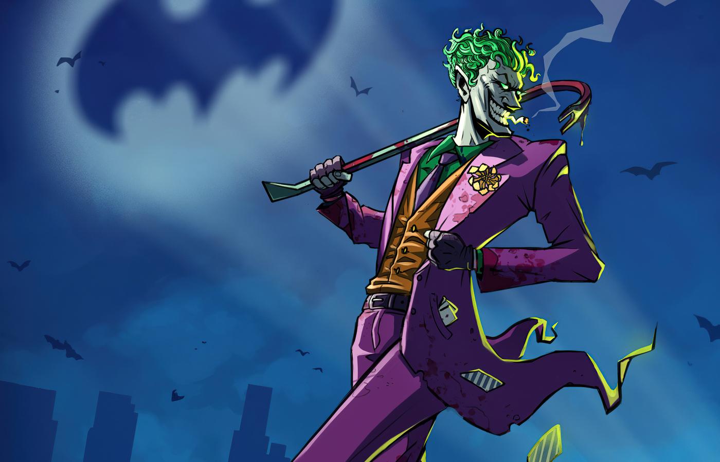 1400x900 Joker Take Over Gotham City 1400x900 Resolution ...